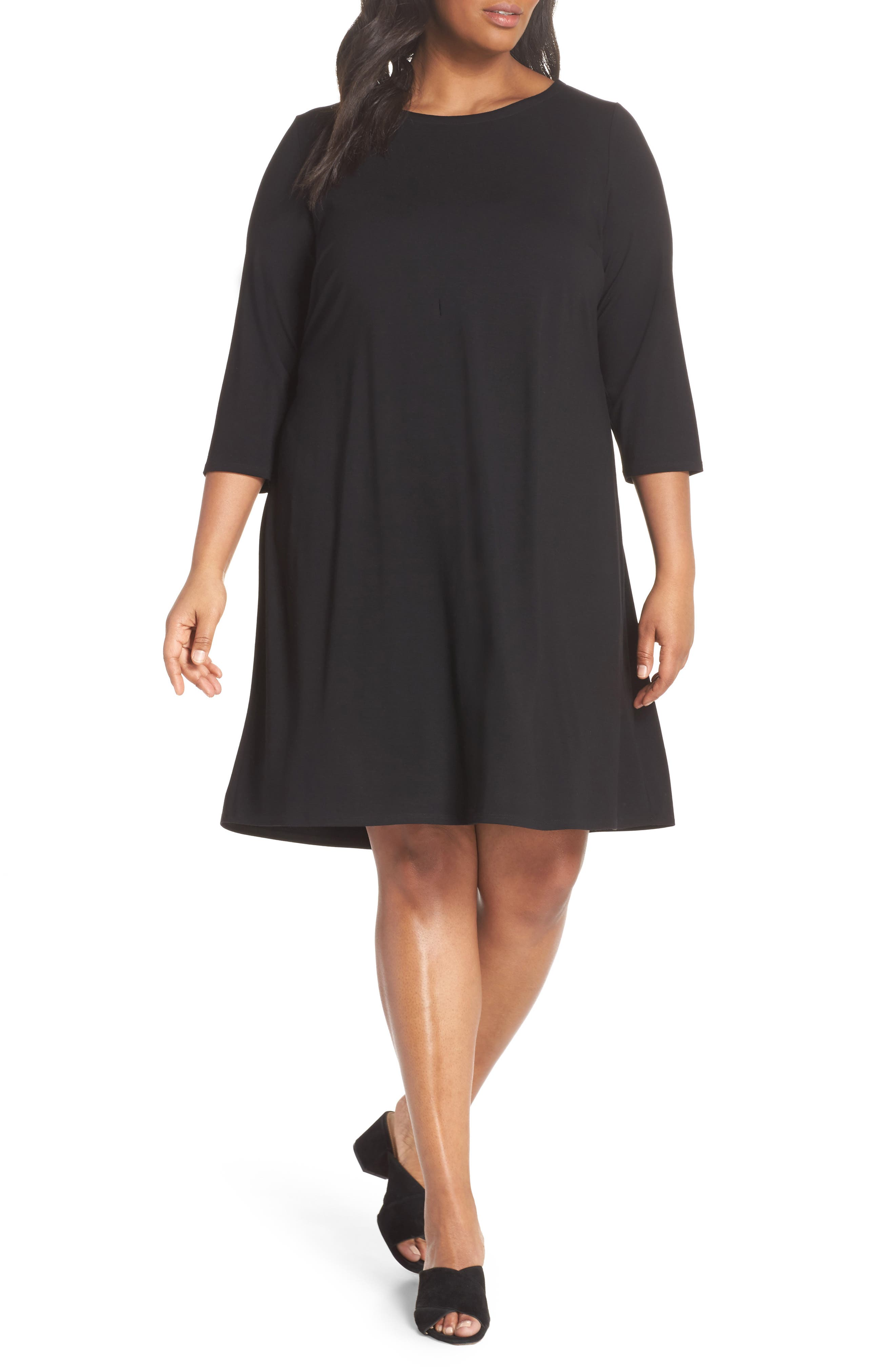 Jewel Neck Tie Back Dress,                             Main thumbnail 1, color,