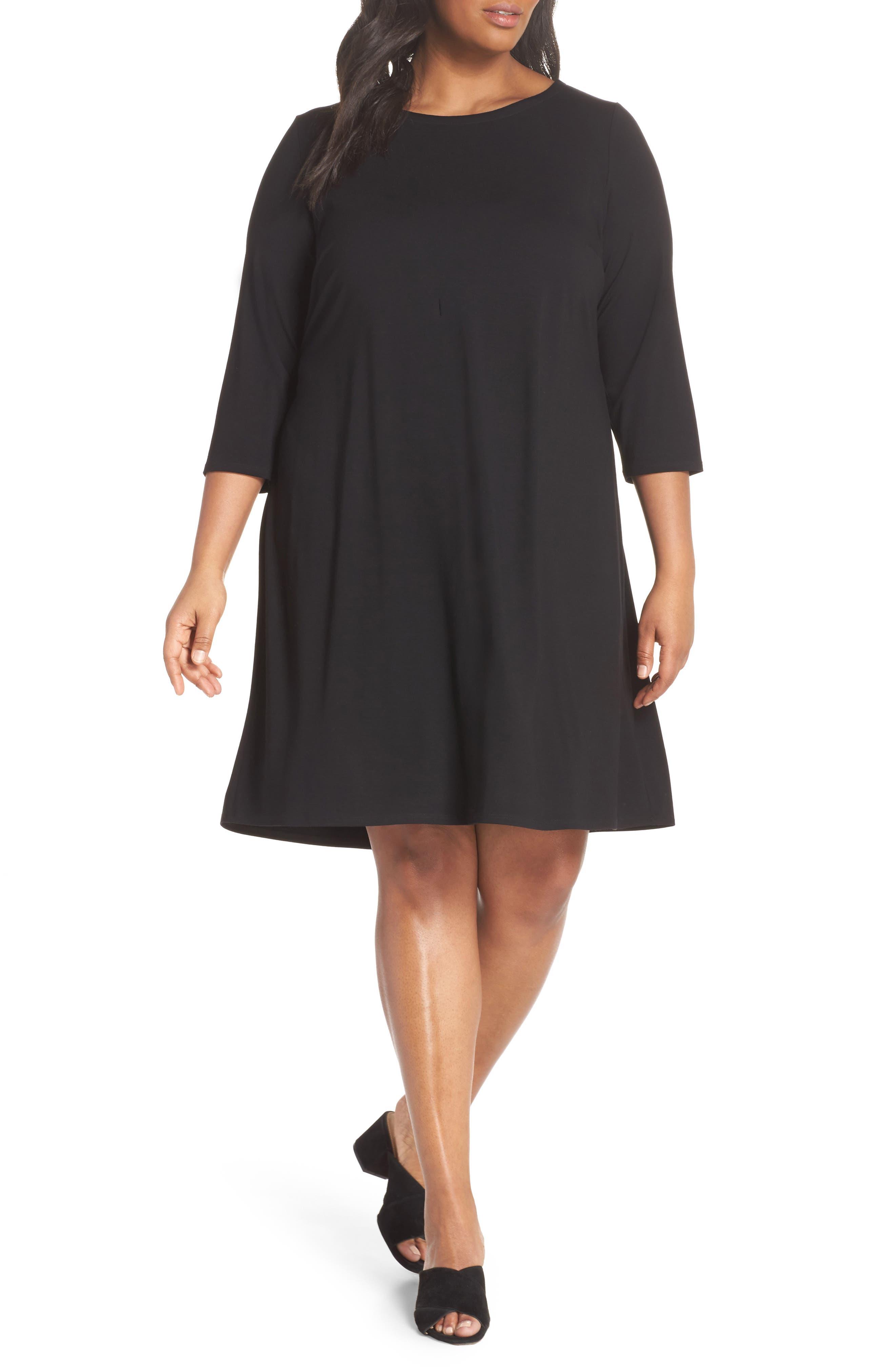 Jewel Neck Tie Back Dress,                         Main,                         color,