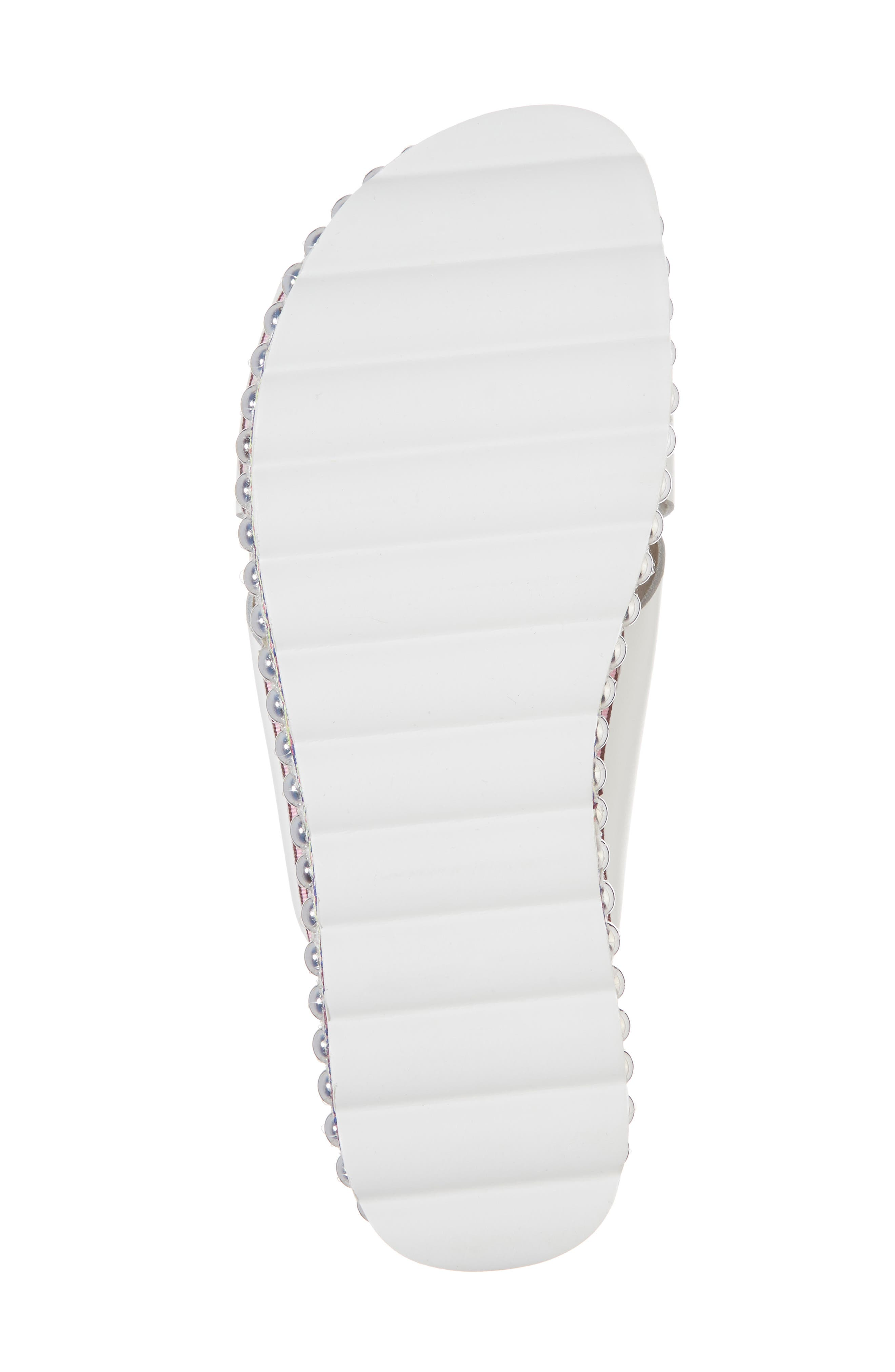 Torri Platform Slide Sandal,                             Alternate thumbnail 6, color,                             WHITE LEATHER