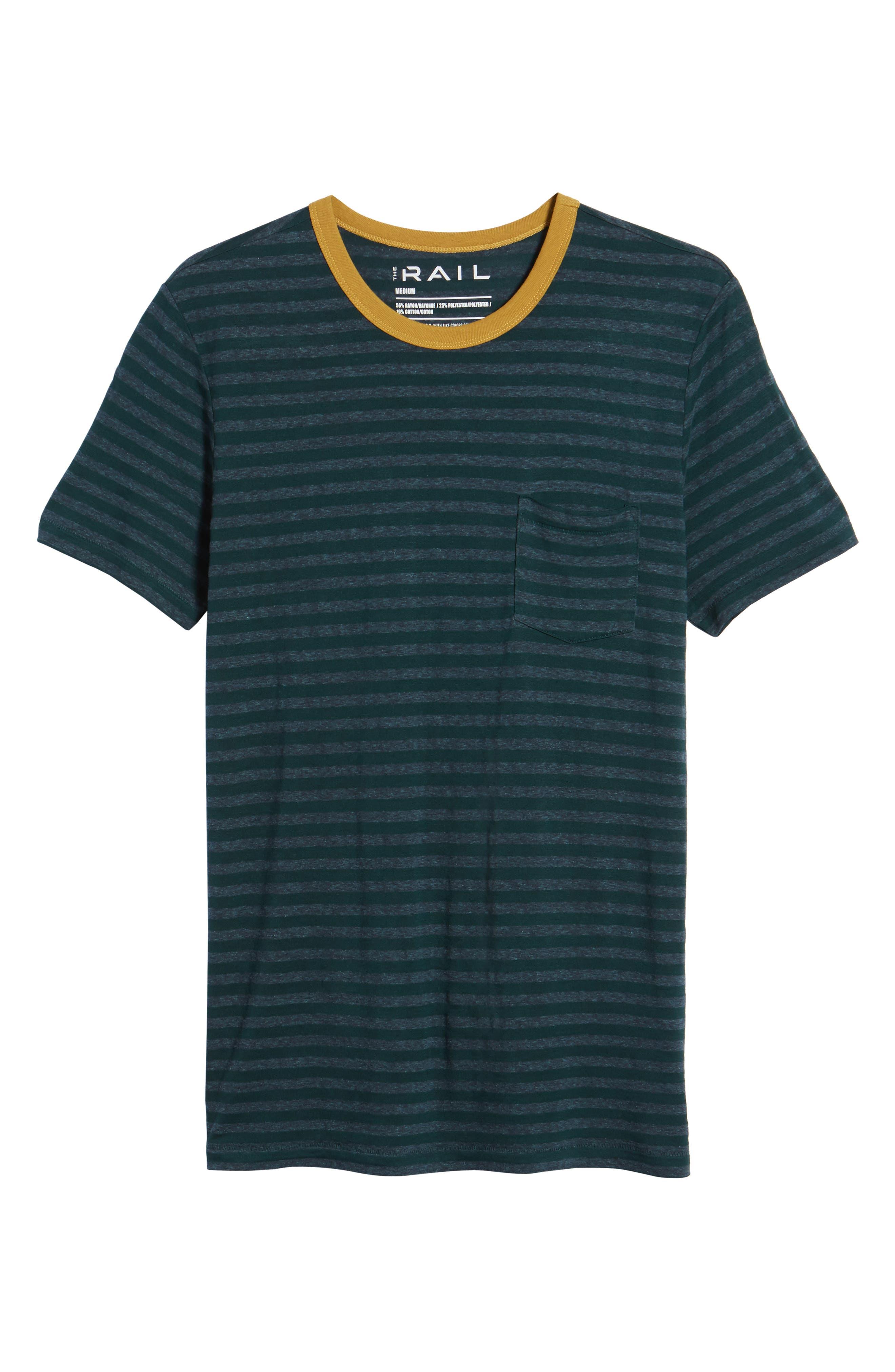 Stripe Ringer T-Shirt,                             Alternate thumbnail 6, color,