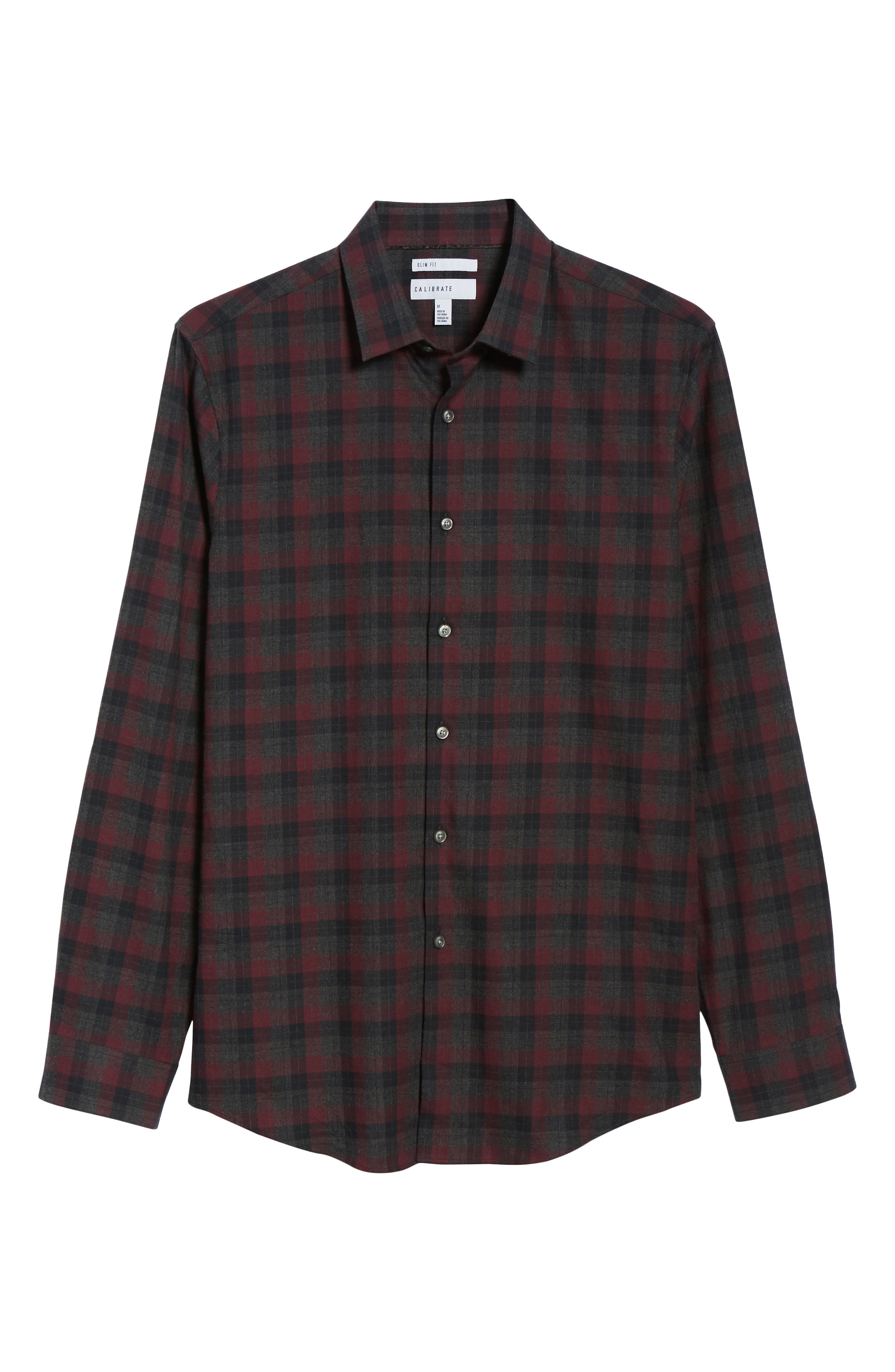 CALIBRATE,                             Check Flannel Shirt,                             Alternate thumbnail 6, color,                             050