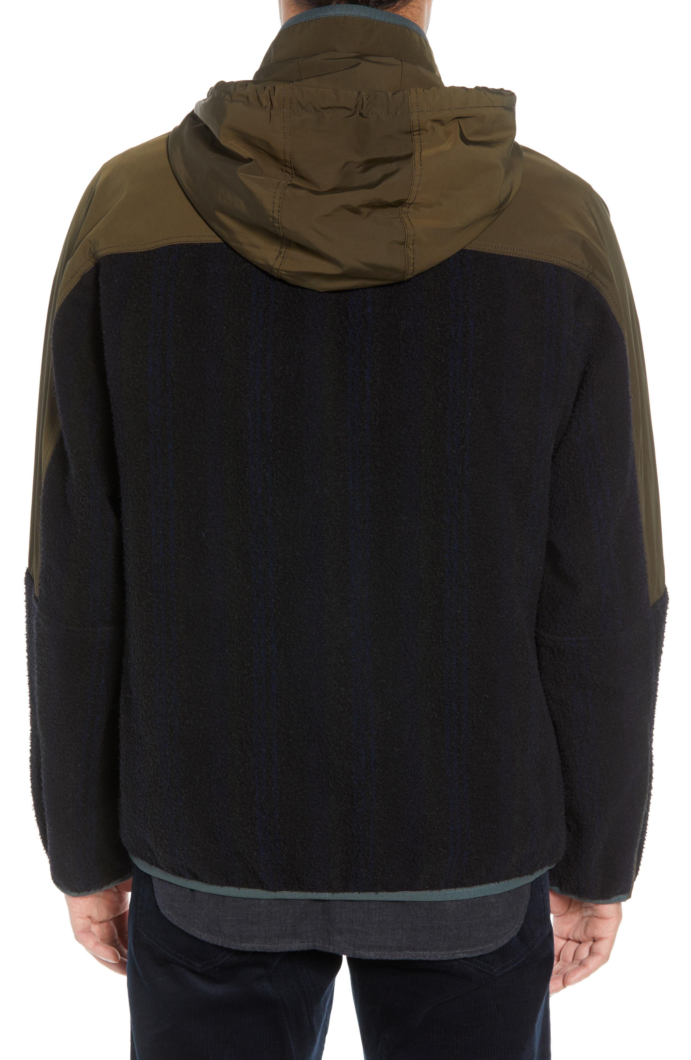 Mixed Media Hooded Jacket,                             Alternate thumbnail 2, color,                             FATIGUE