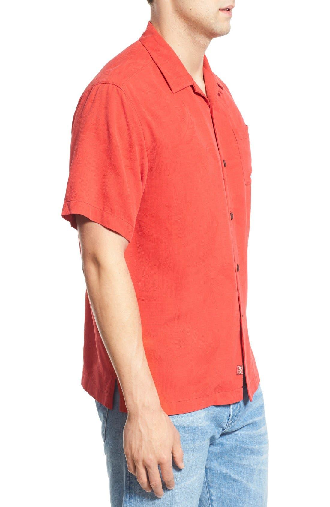 Rio Fronds Short Sleeve Silk Sport Shirt,                             Alternate thumbnail 46, color,