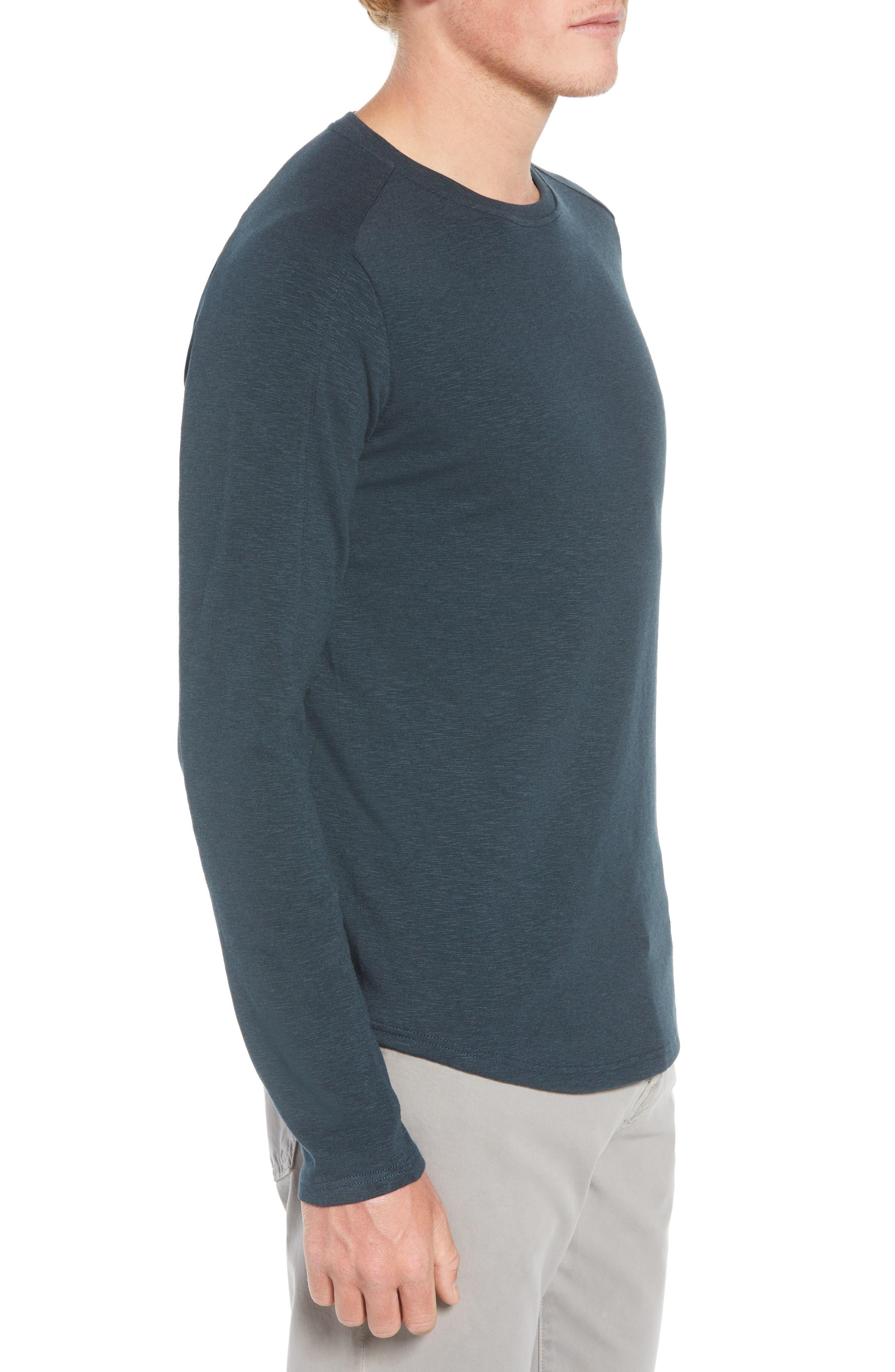 Douglas Slub Long Sleeve T-Shirt,                             Alternate thumbnail 3, color,                             TEAL