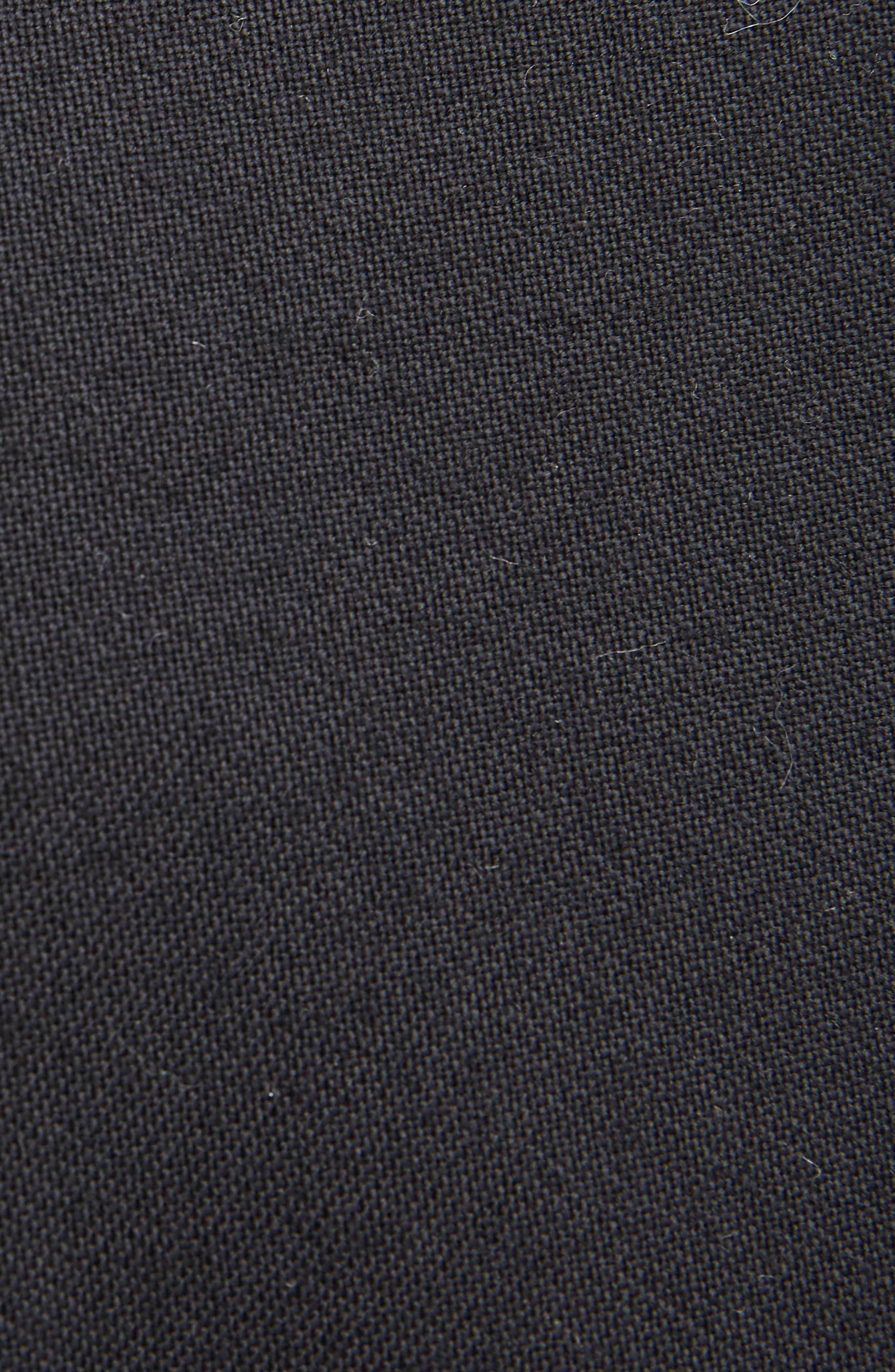 Slit Cuff Crop Flare Pants,                             Alternate thumbnail 5, color,                             001