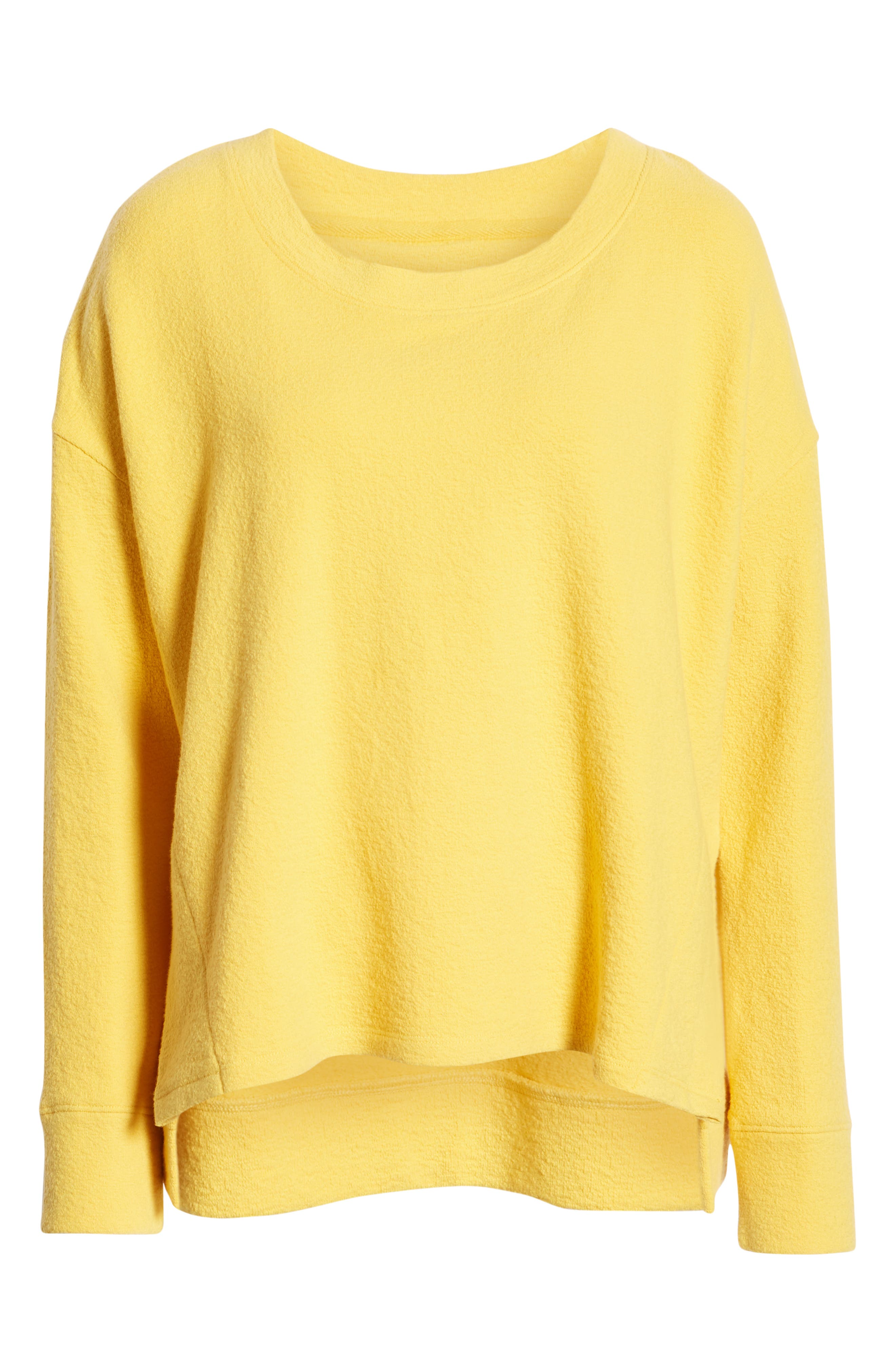 CASLON<SUP>®</SUP>,                             Side Slit Relaxed Sweatshirt,                             Alternate thumbnail 6, color,                             YELLOW WHIP