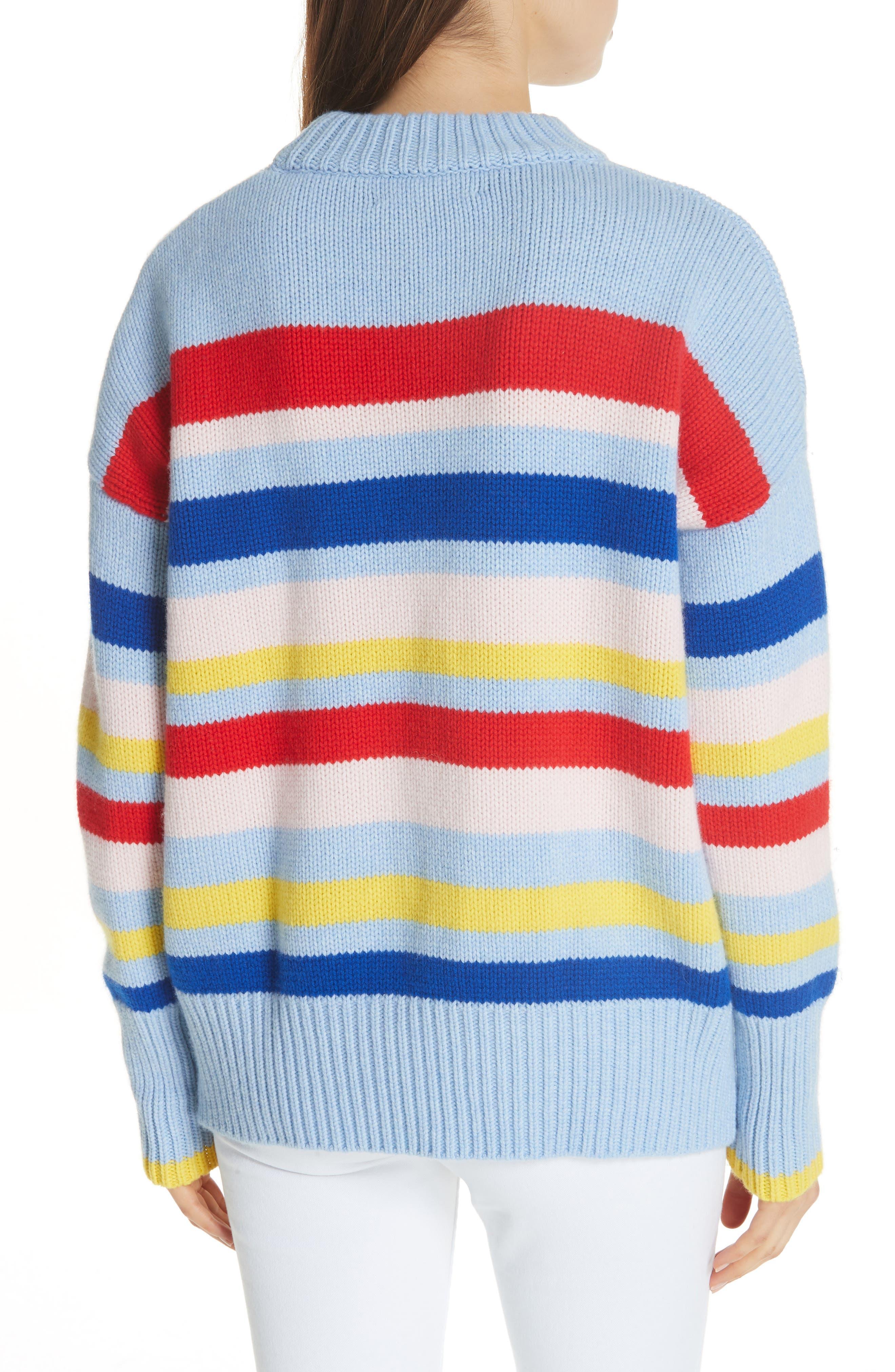 LA LIGNE,                             Happy Marin Sweater,                             Alternate thumbnail 2, color,                             RAINBOW STRIPE