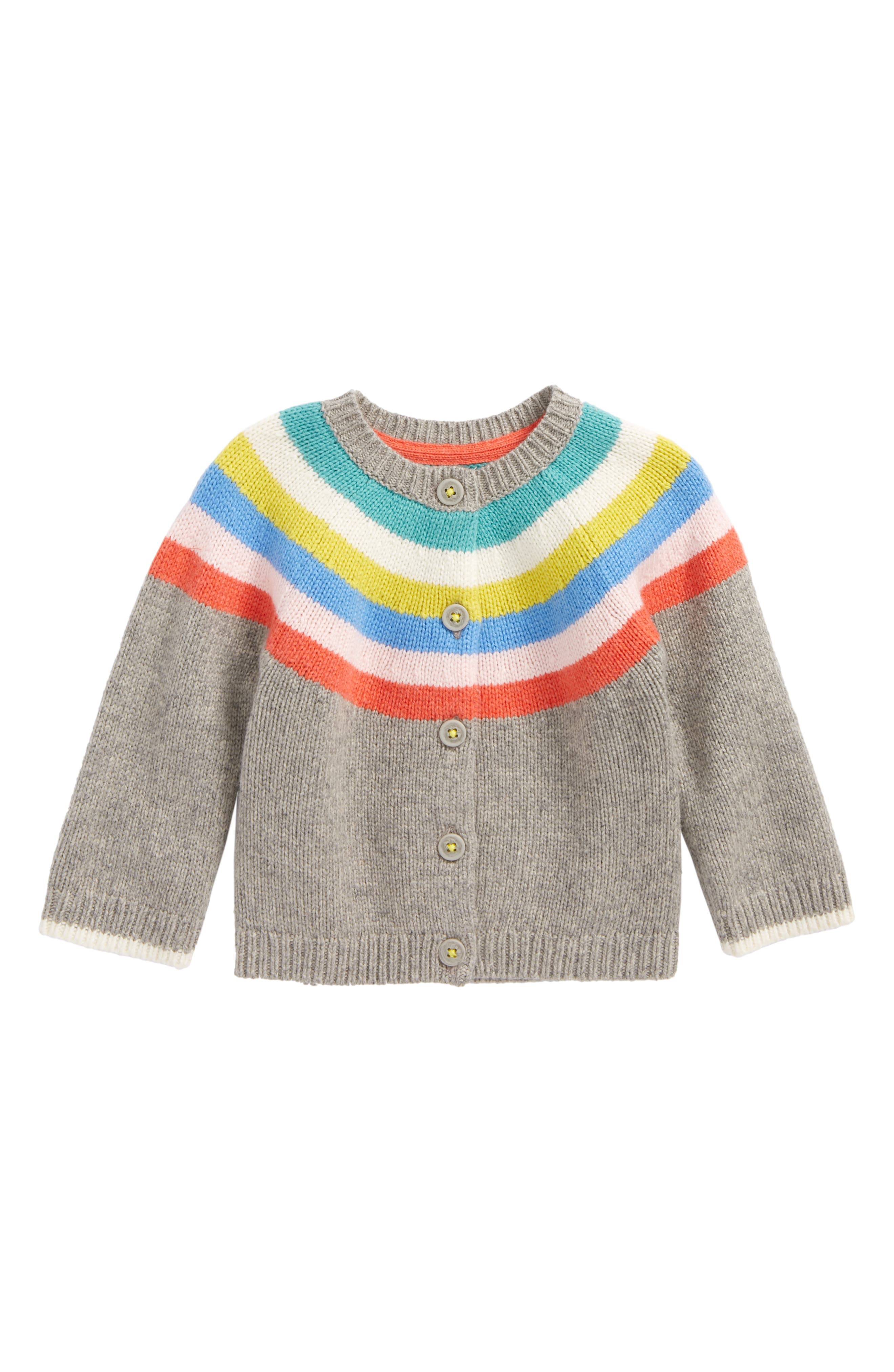 Rainbow Stripe Cardigan,                             Main thumbnail 1, color,                             062