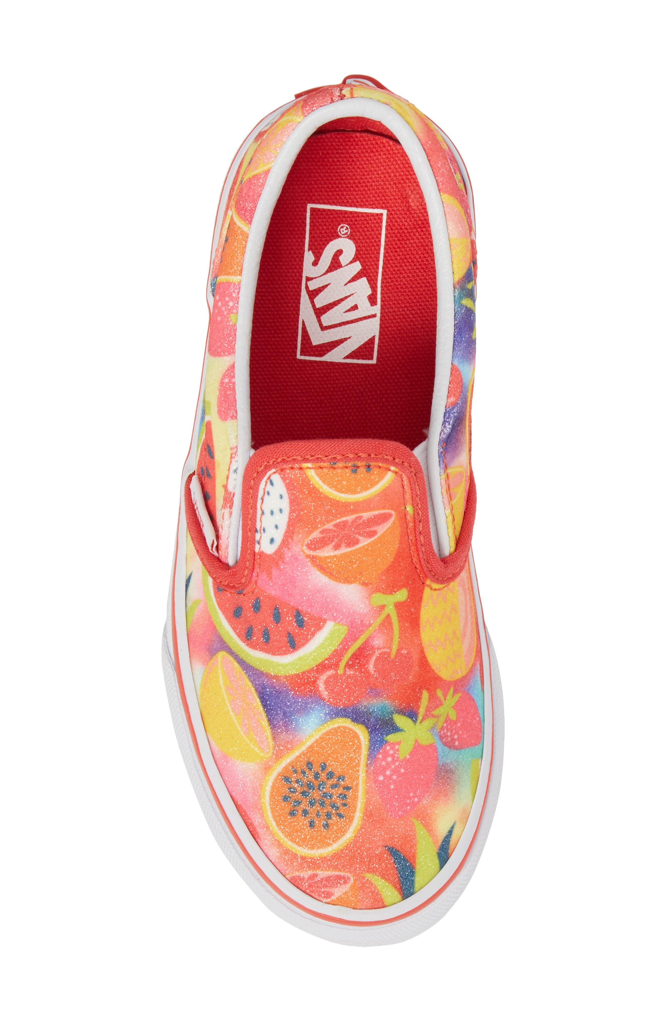 Classic Glitter Fruit Slip-On Sneaker,                             Alternate thumbnail 5, color,                             600