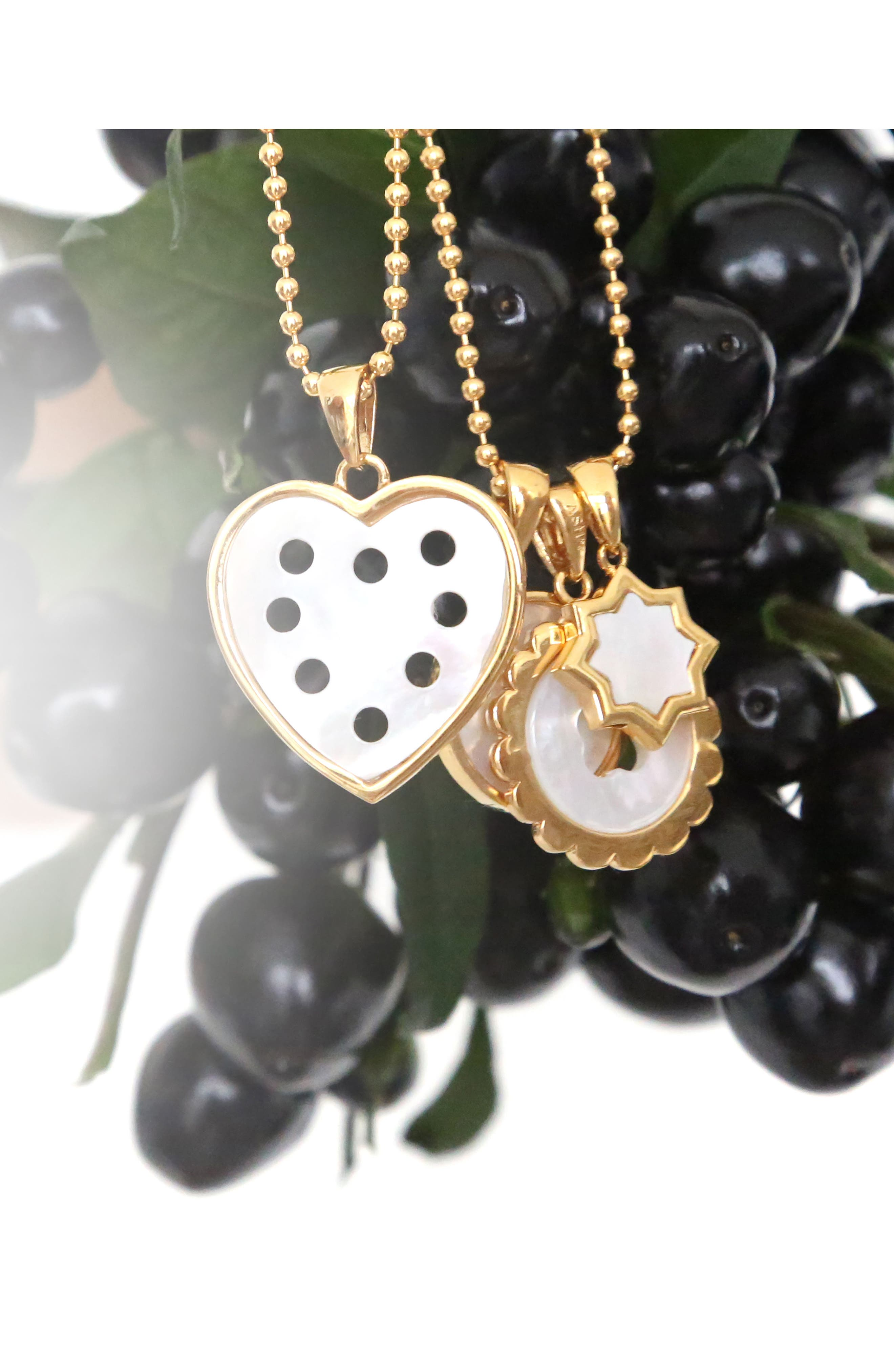 Small Mother-of-Pearl Heart Charm,                             Alternate thumbnail 2, color,                             GOLD - MOTHER OF PEARL