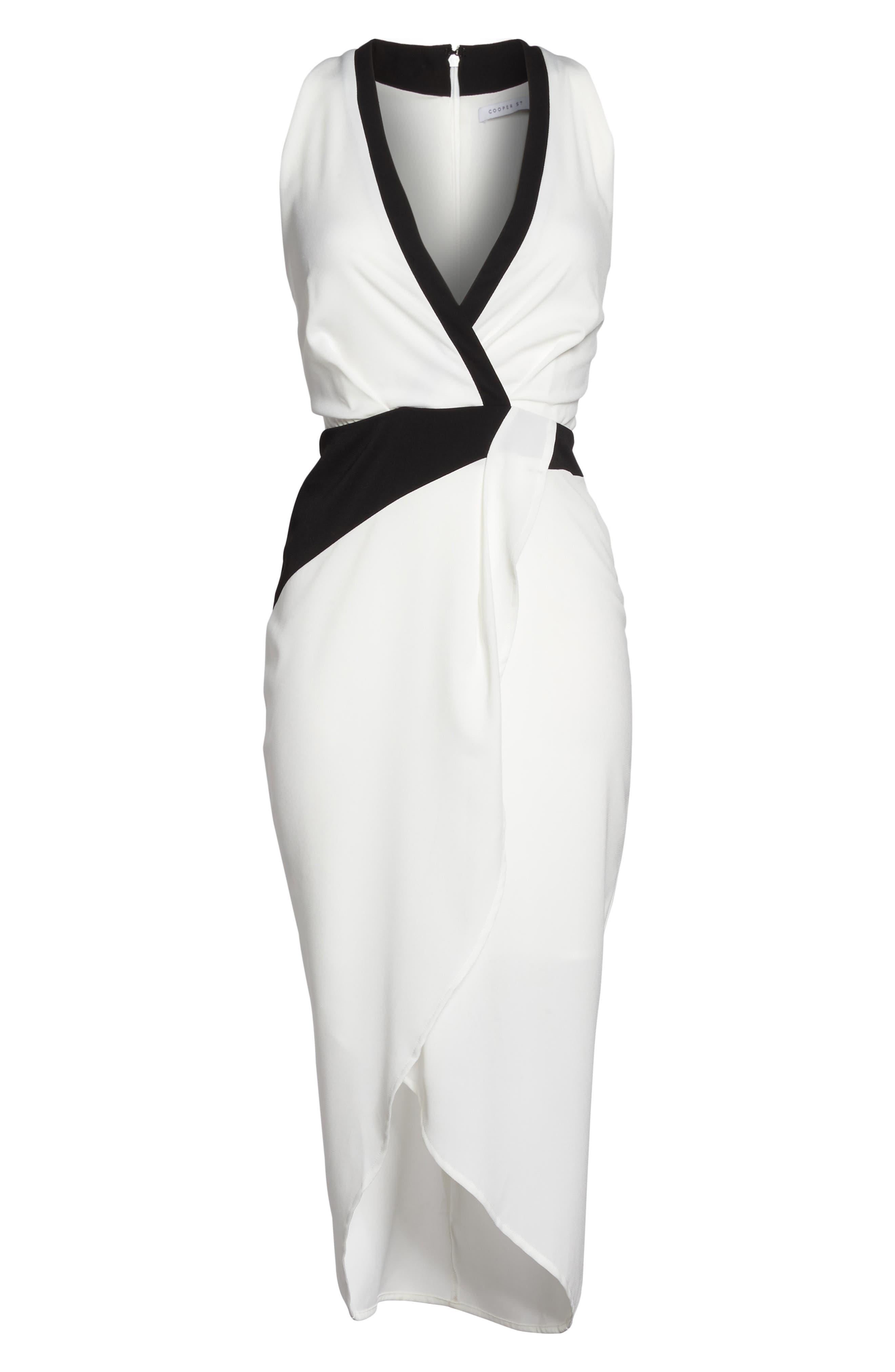 Claudia Drape Midi Dress,                             Alternate thumbnail 6, color,                             112