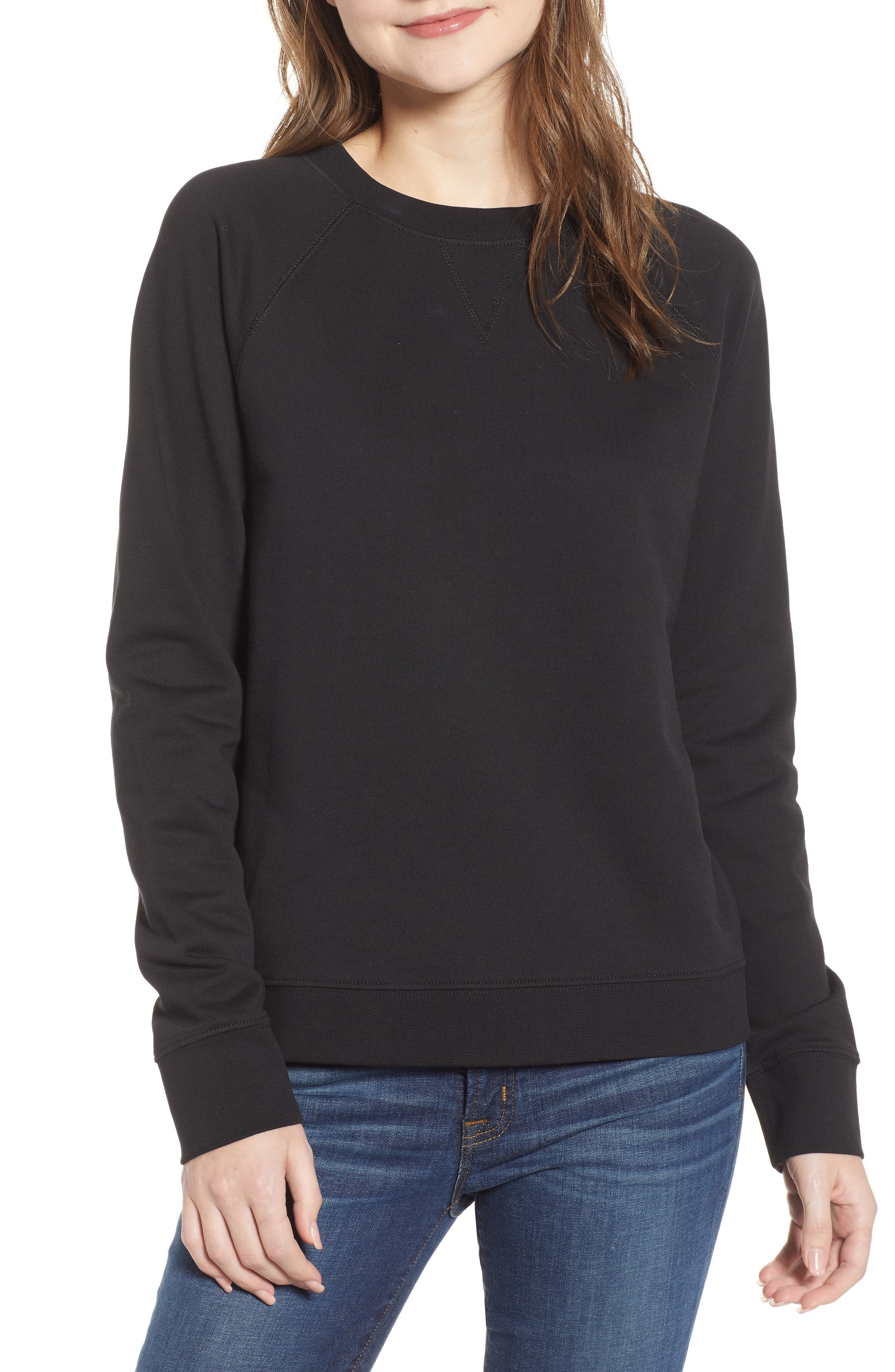 J.crew Garment Dyed Sweatshirt, Black