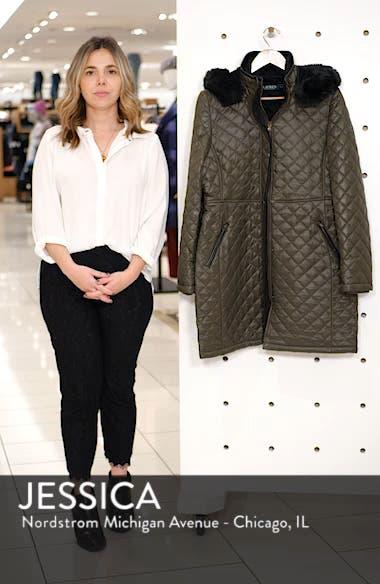 Faux Fur Trim Quilted Jacket, sales video thumbnail