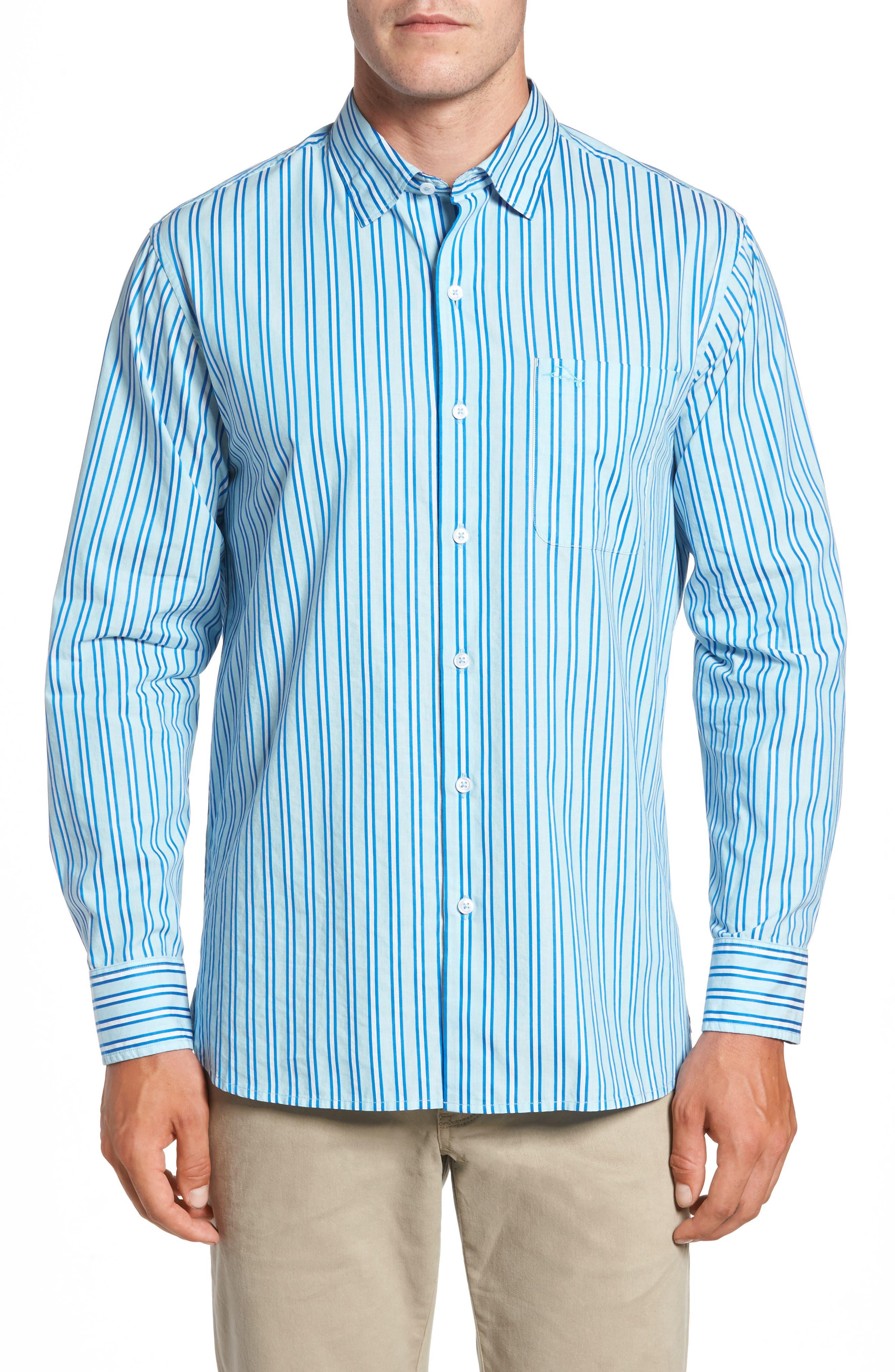 Surf the Line Stripe Sport Shirt,                         Main,                         color, 400
