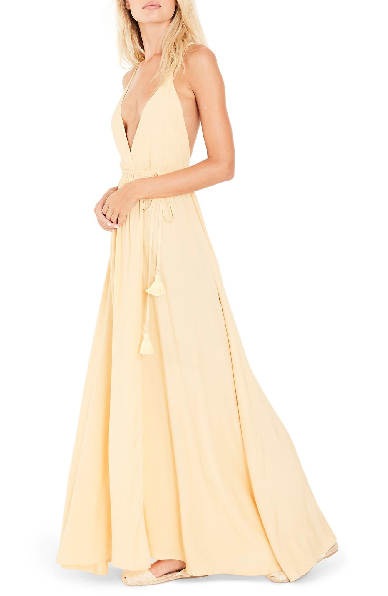 Santa Rose Strappy Maxi Dress,                             Alternate thumbnail 3, color,                             700