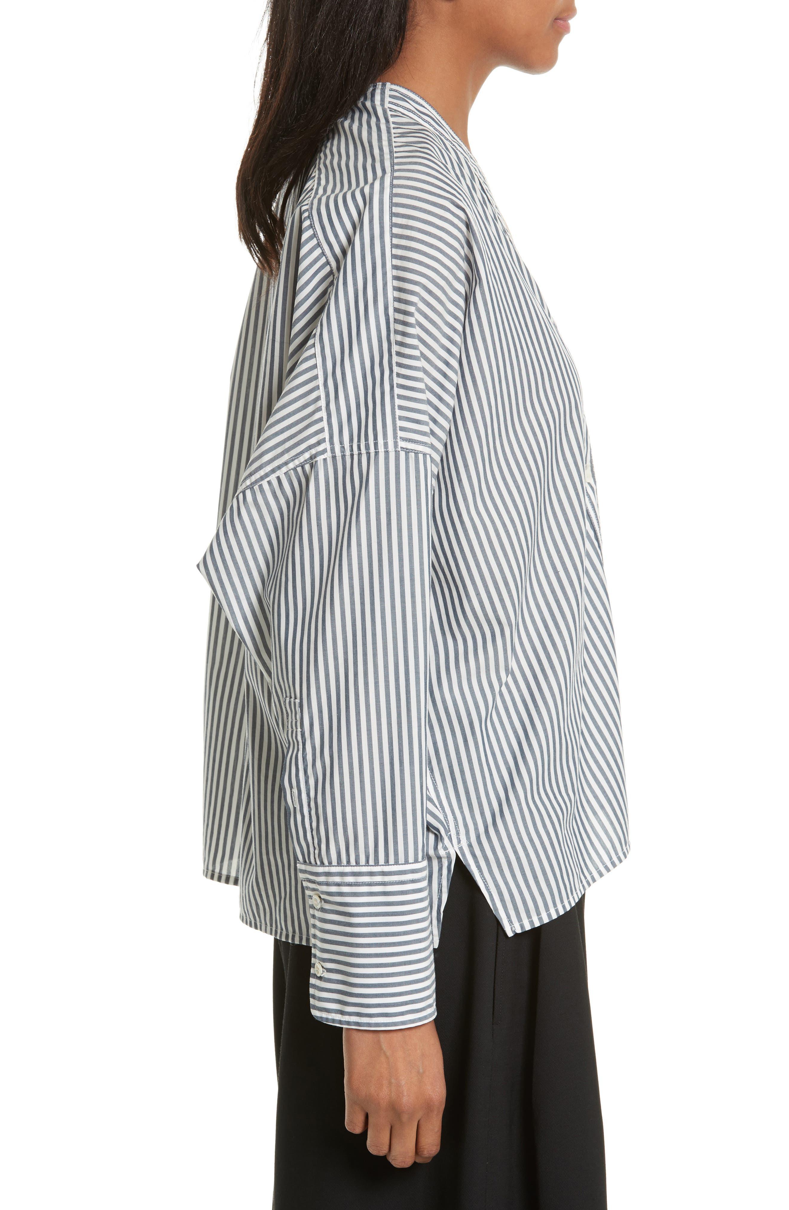 Sabine Stripe Cotton Top,                             Alternate thumbnail 3, color,                             412