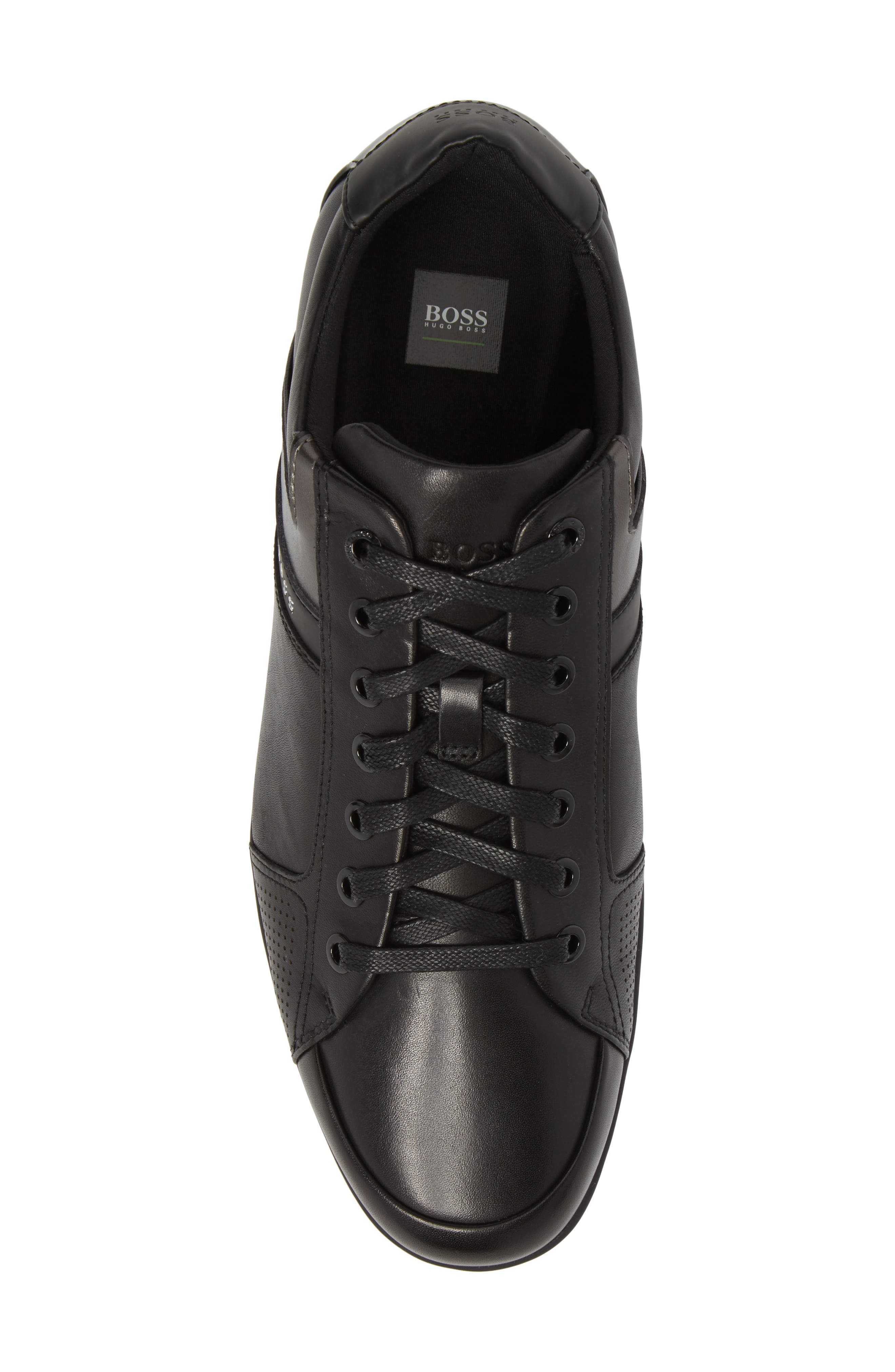 Space Lowp Lux Sneaker,                             Alternate thumbnail 5, color,                             BLACK LEATHER