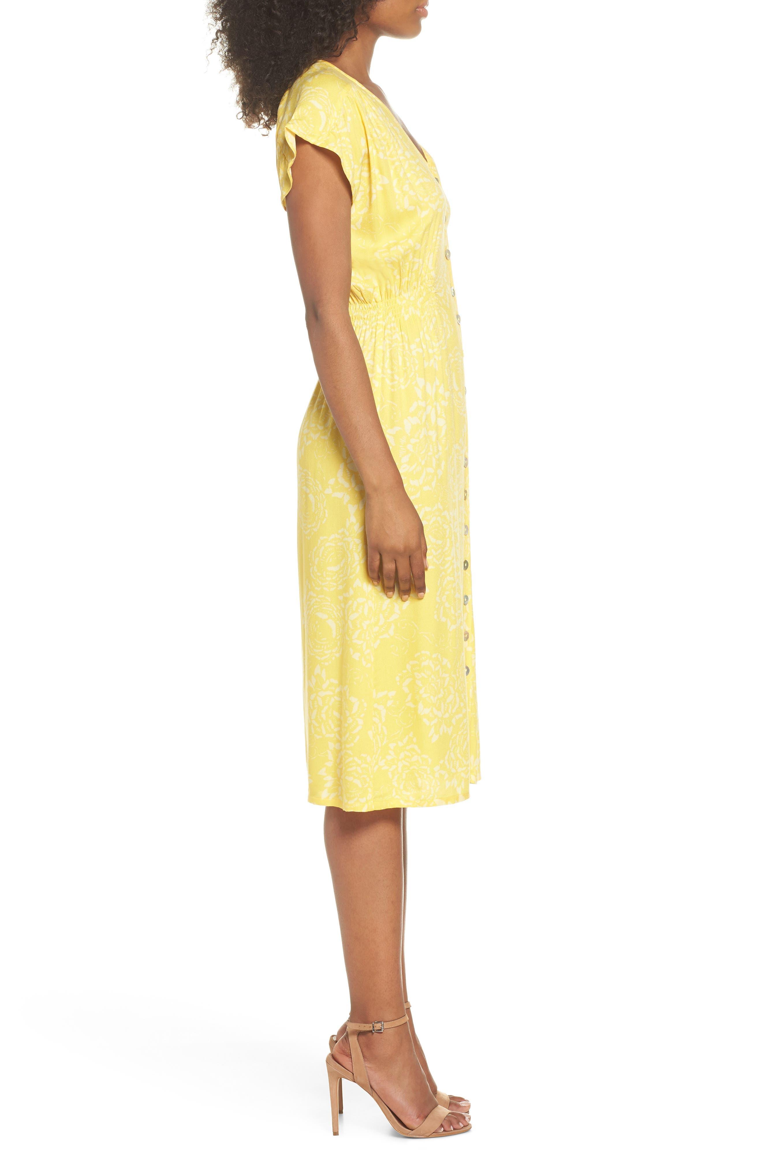 Lido Front Button Sheath Dress,                             Alternate thumbnail 3, color,                             707