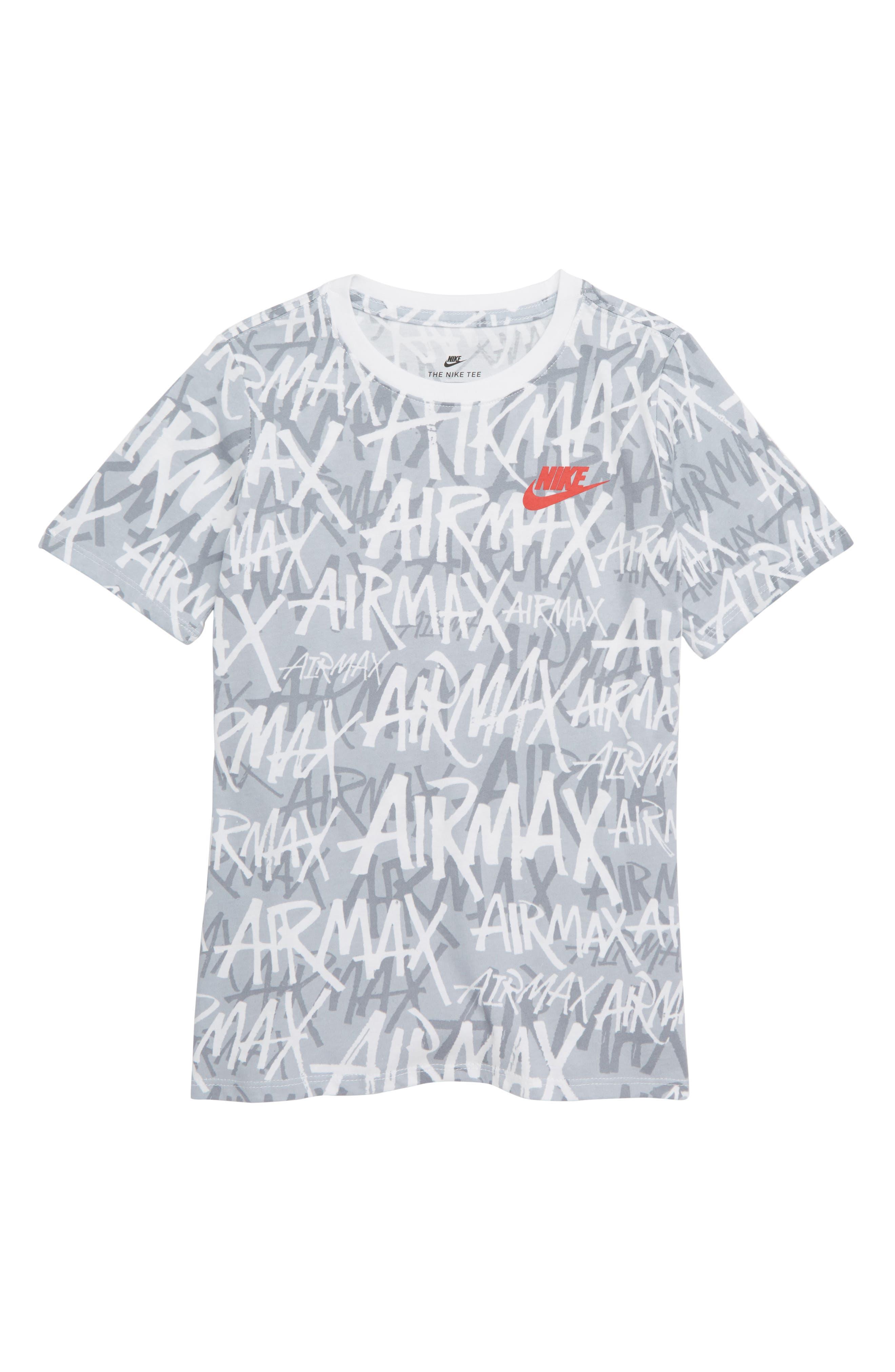 Sportswear Air Max Logo T-Shirt,                         Main,                         color, WHITE/ UNIVERSITY RED