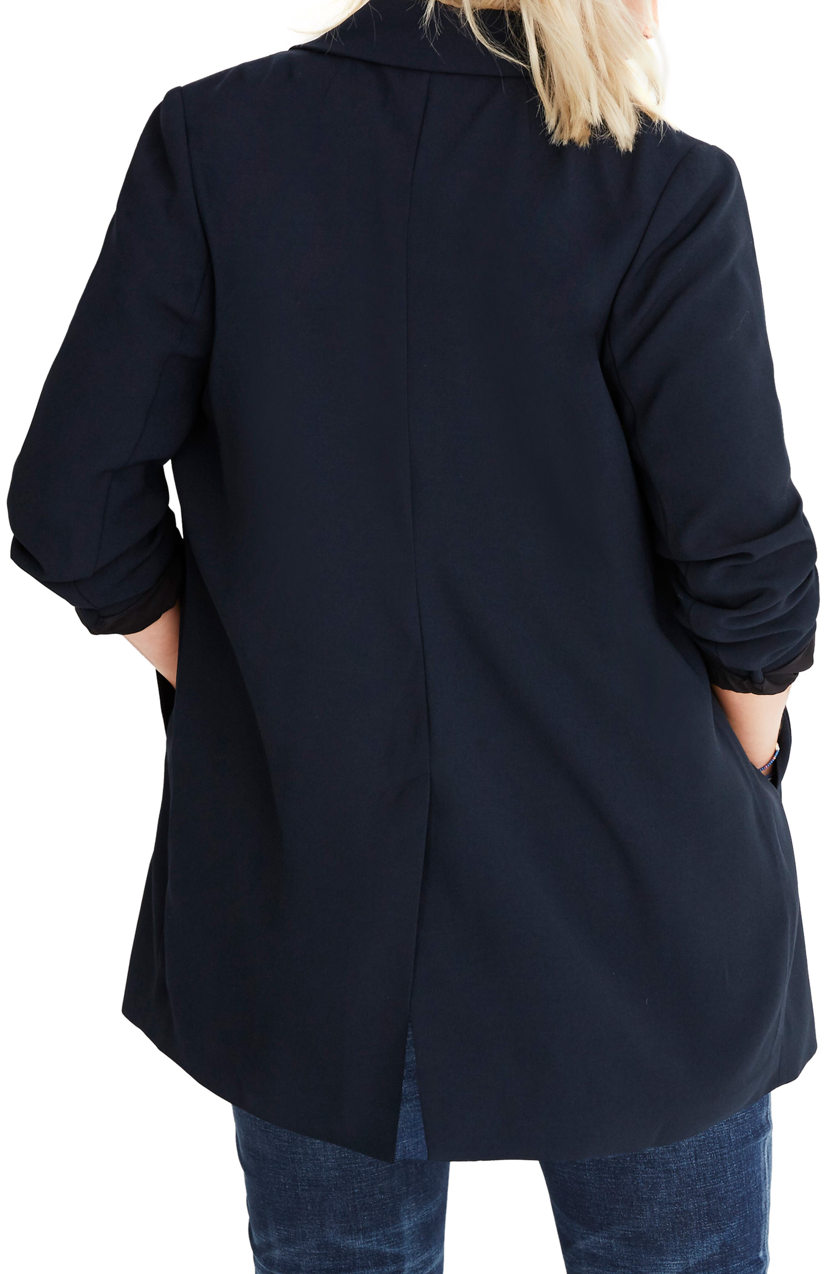 Caldwell Double Breasted Blazer,                             Alternate thumbnail 7, color,                             TRUE BLACK