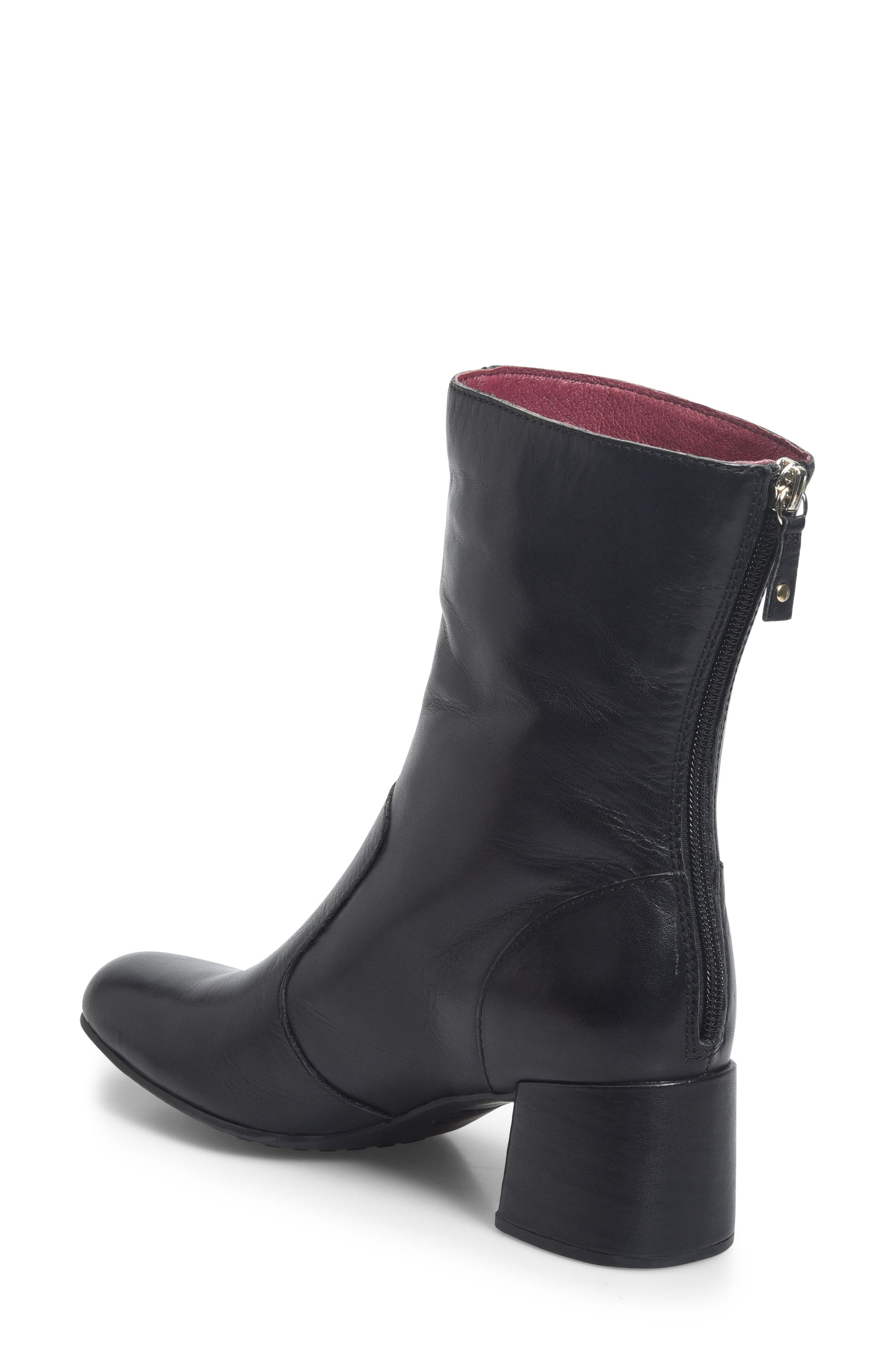 Florence Bootie,                             Alternate thumbnail 2, color,                             BLACK LEATHER