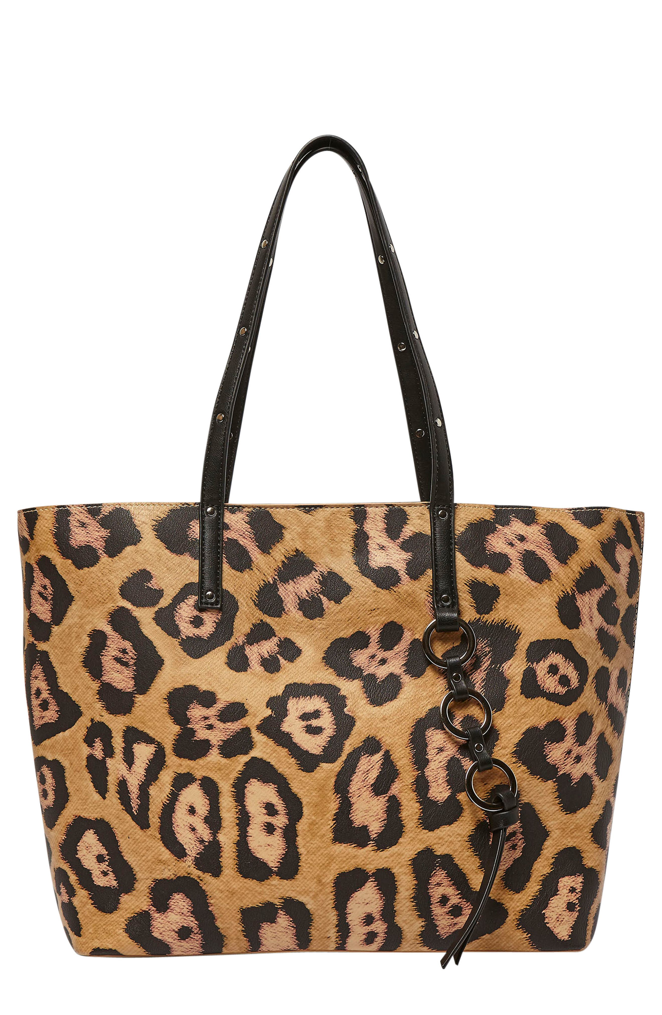 Wild Fire Vegan Leather Tote,                             Main thumbnail 4, color,