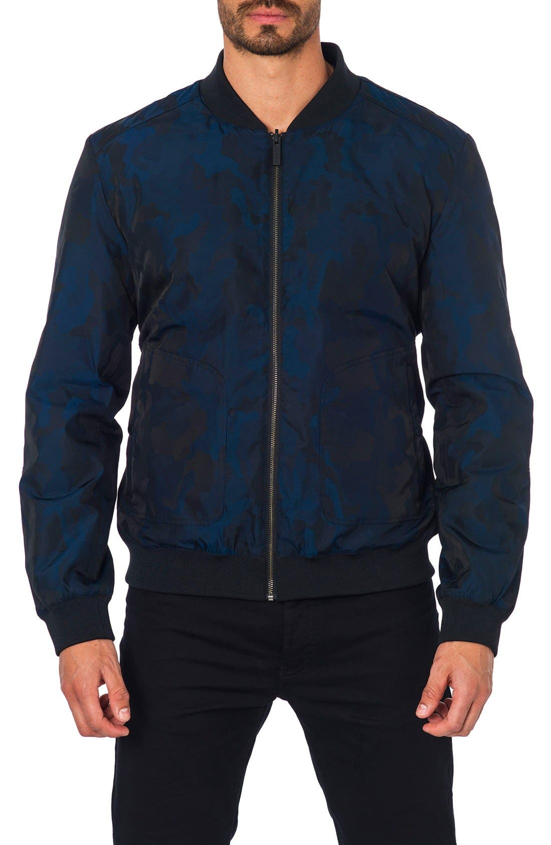 New York Reversible Bomber Jacket,                         Main,                         color, 410