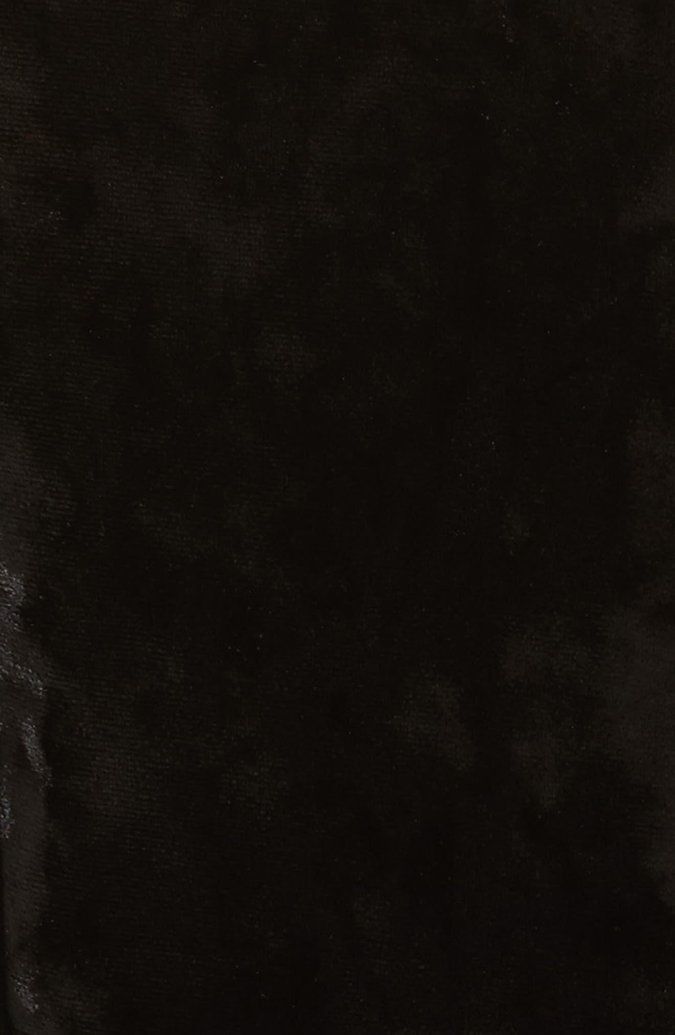 Strapless Velvet Dress,                             Alternate thumbnail 5, color,                             001