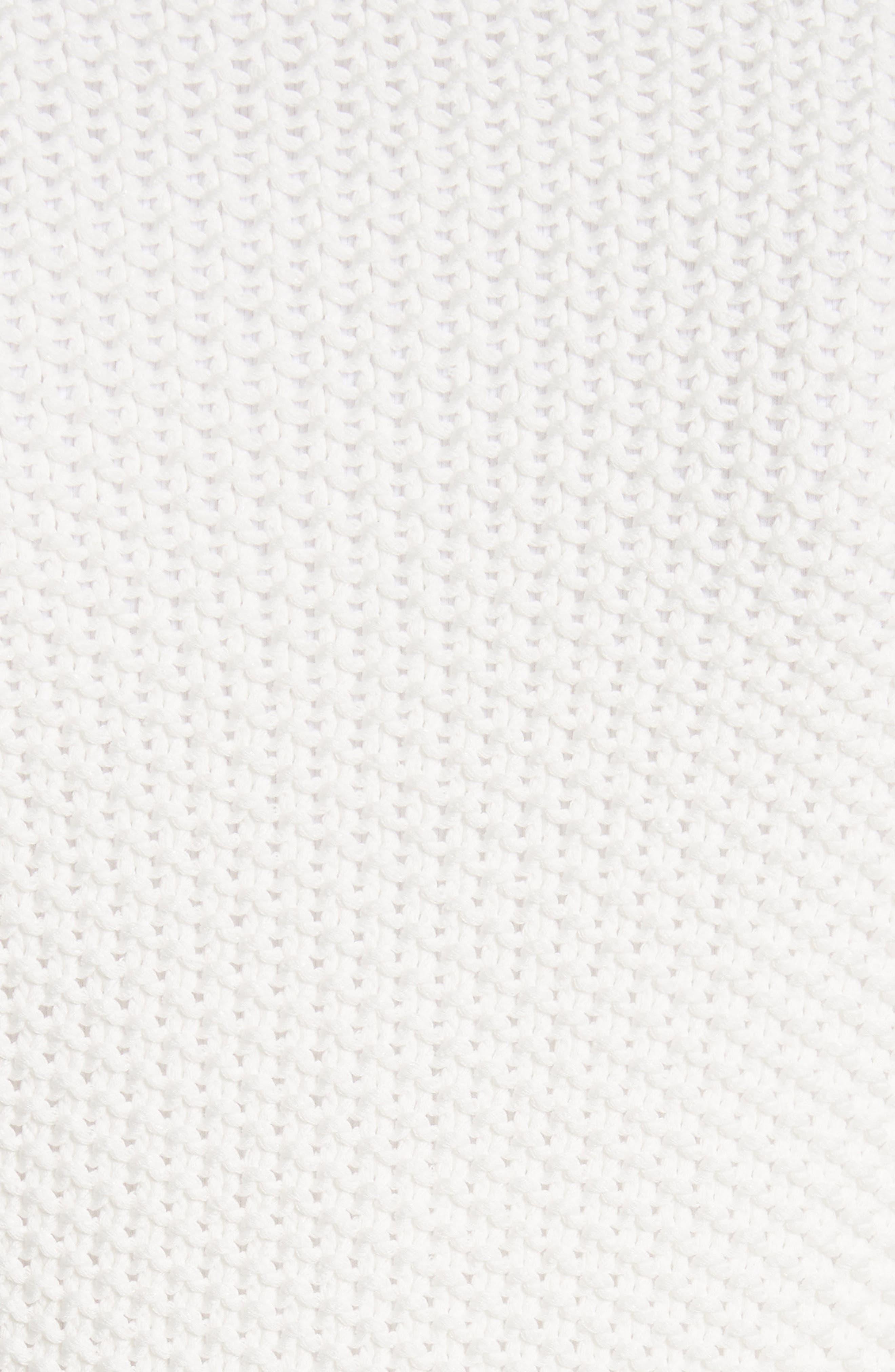 Popcorn Stitch Cotton Blend Cardigan,                             Alternate thumbnail 5, color,                             900