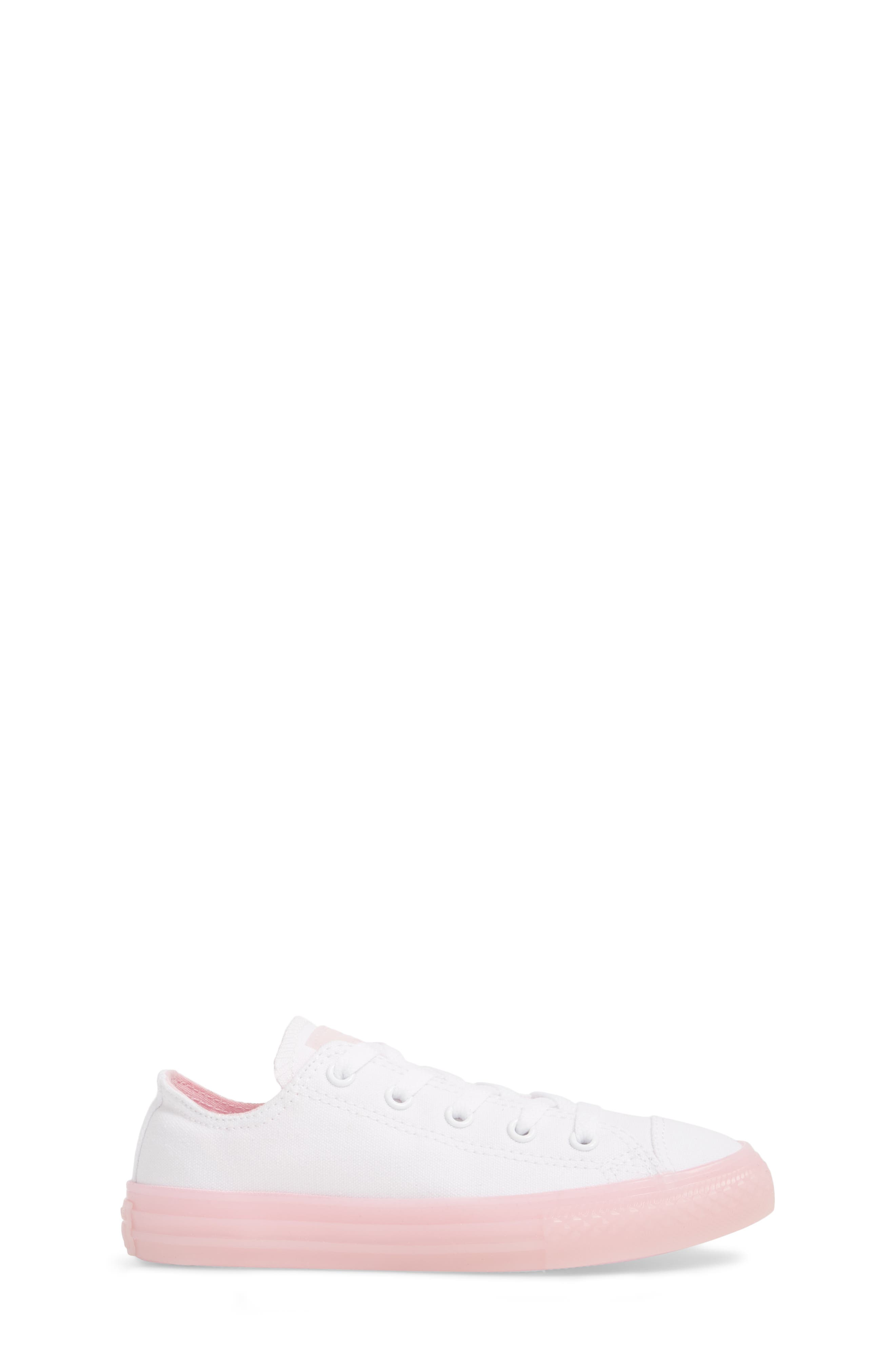 Chuck Taylor<sup>®</sup> All Star<sup>®</sup> Jelly Low Top Sneaker,                             Alternate thumbnail 3, color,                             WHITE/ CHERRY
