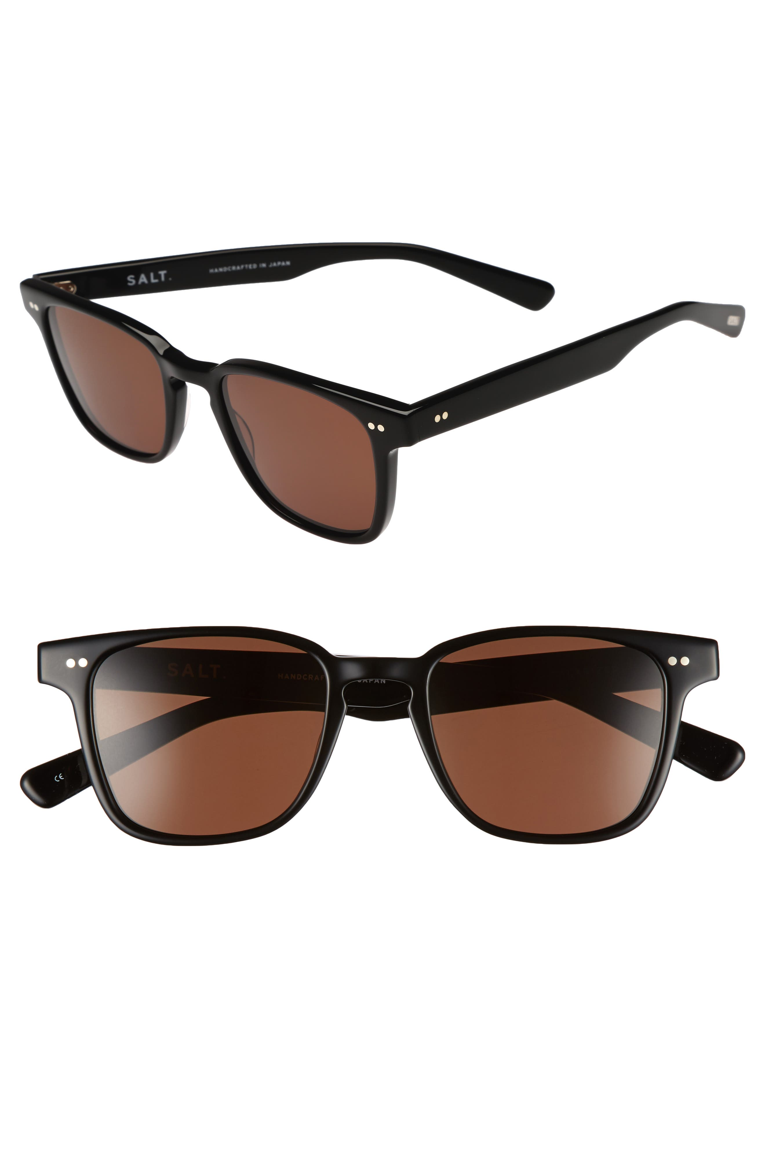 Reiner 51mm Polarized Sunglasses,                             Main thumbnail 1, color,                             BLACK