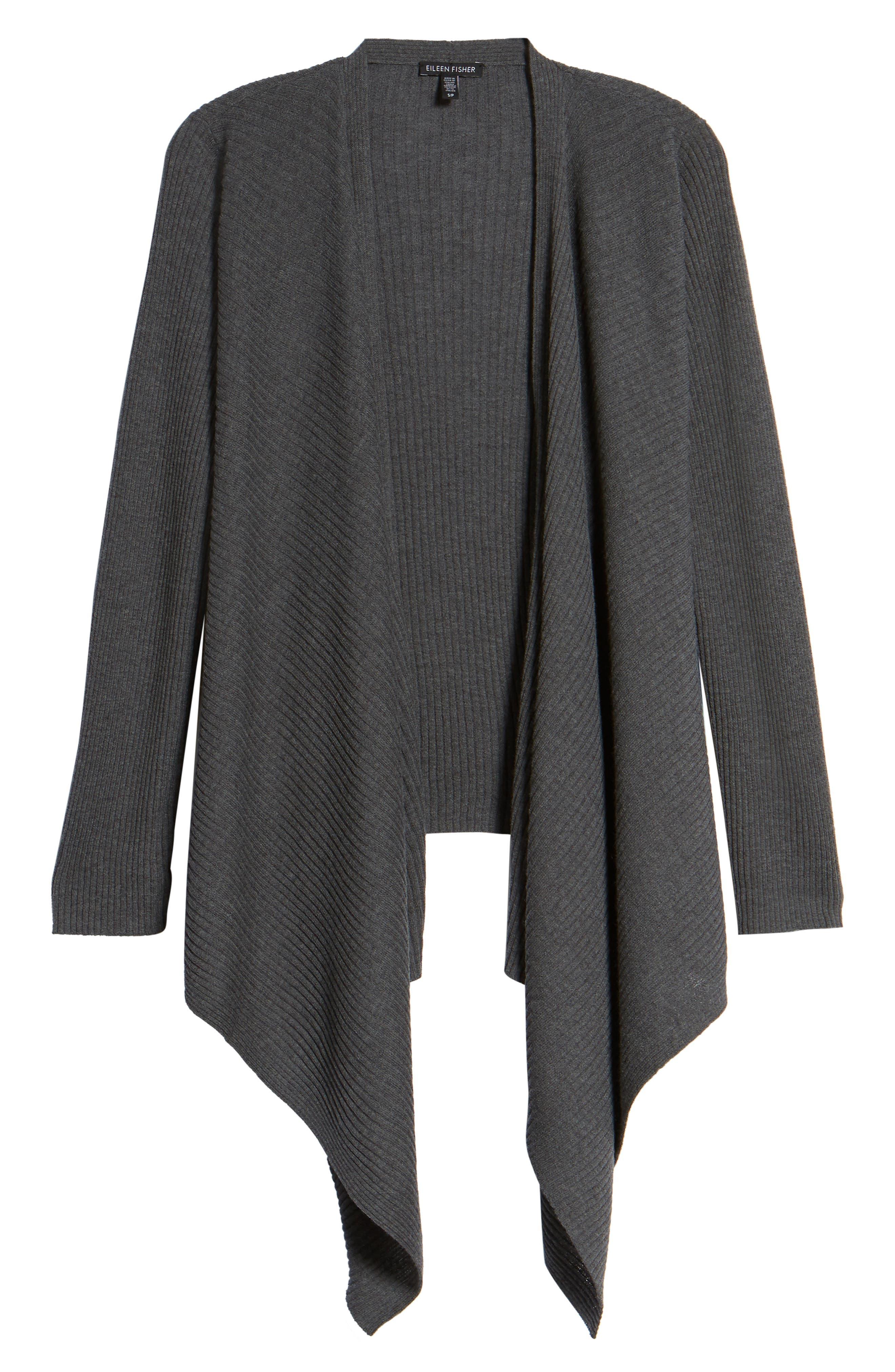 Drape Front Wool Cardigan,                             Alternate thumbnail 18, color,