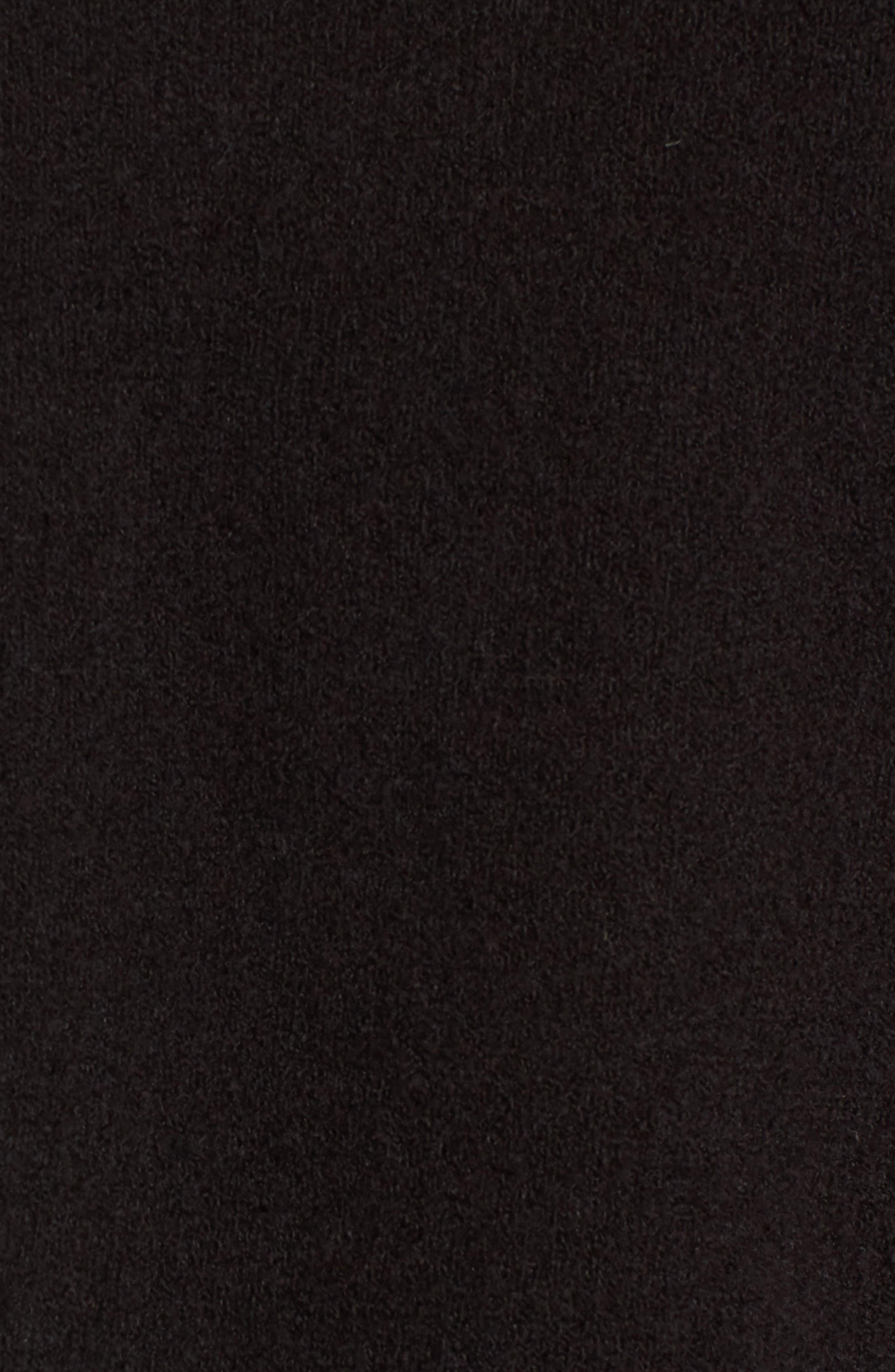 Ruffle Sleeve Sweater,                             Alternate thumbnail 5, color,                             001