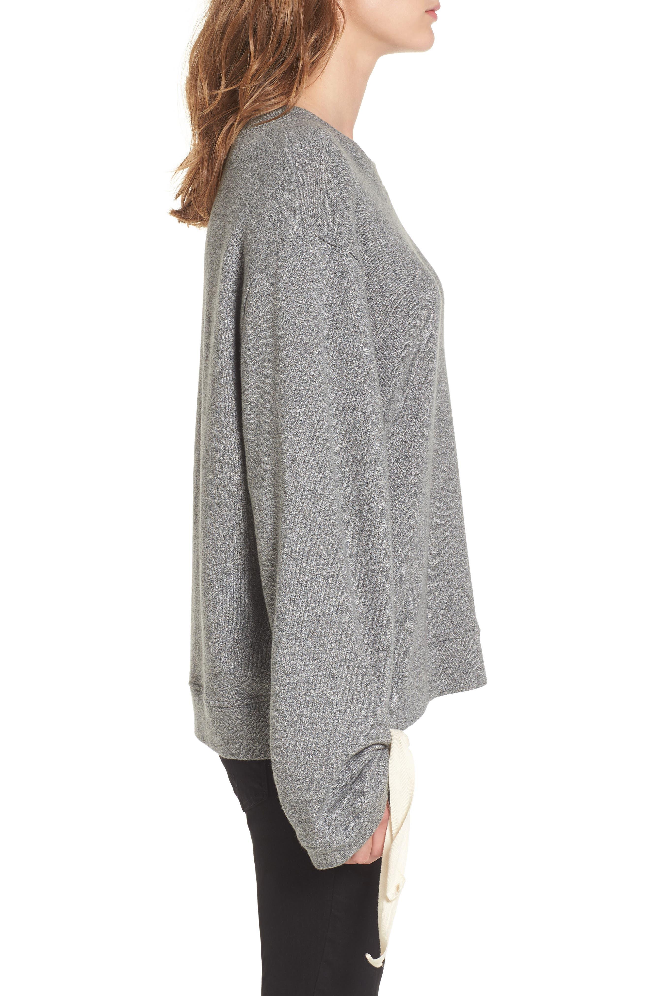 Tie Sleeve Sweater,                             Alternate thumbnail 6, color,