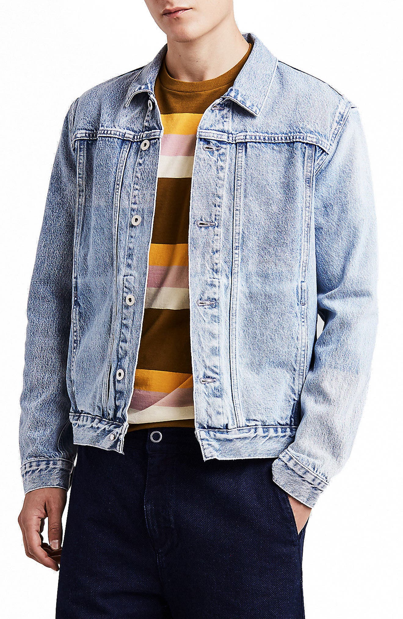 LEVI'S<SUP>®</SUP> MADE & CRAFTED<SUP>™</SUP>,                             Type IV Trucker Standard Fit Denim Jacket,                             Main thumbnail 1, color,                             420