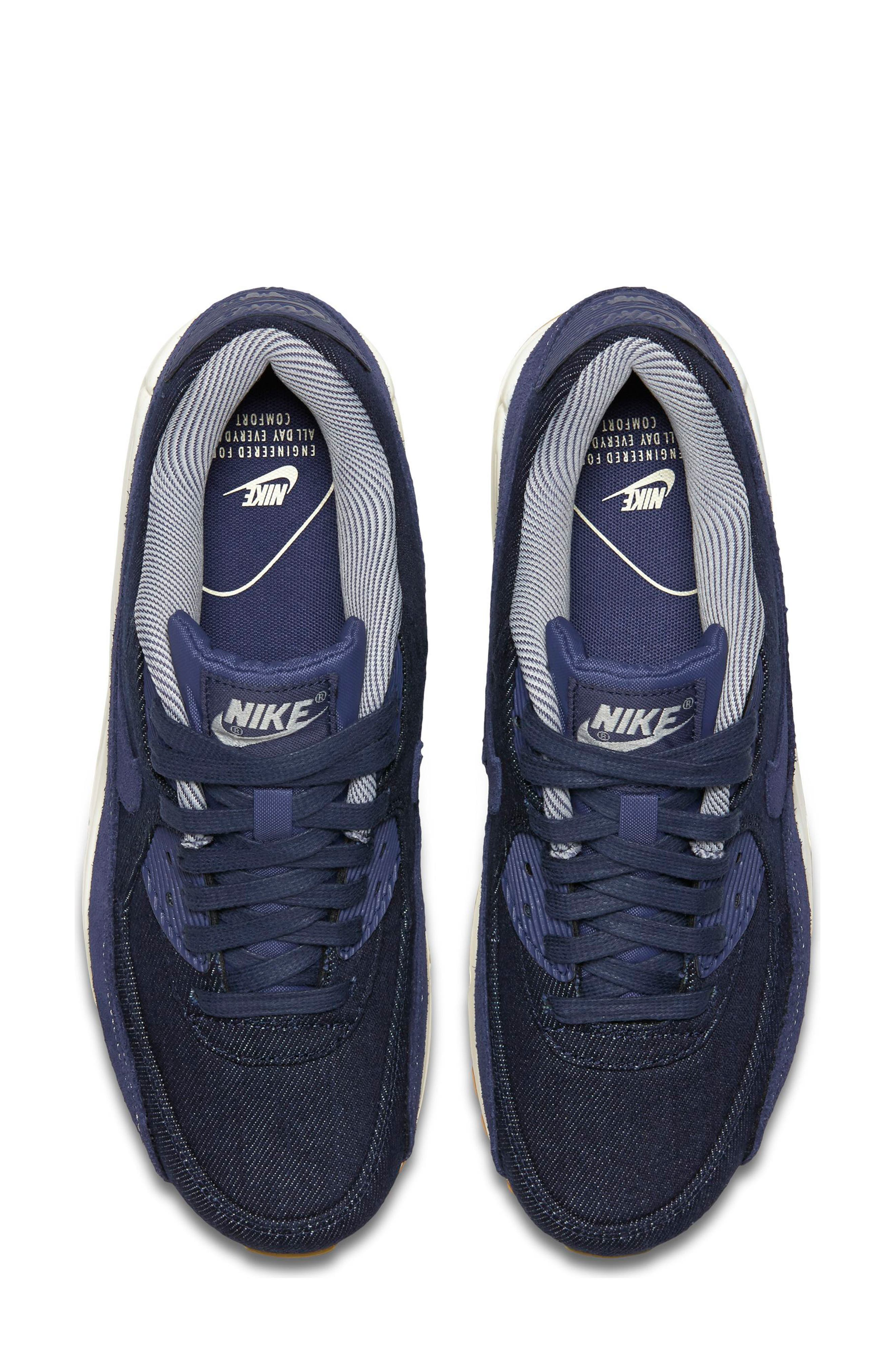 Air Max 90 SE Sneaker,                             Alternate thumbnail 43, color,