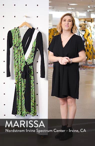 Maureen Leaf Print Silk Wrap Dress, sales video thumbnail