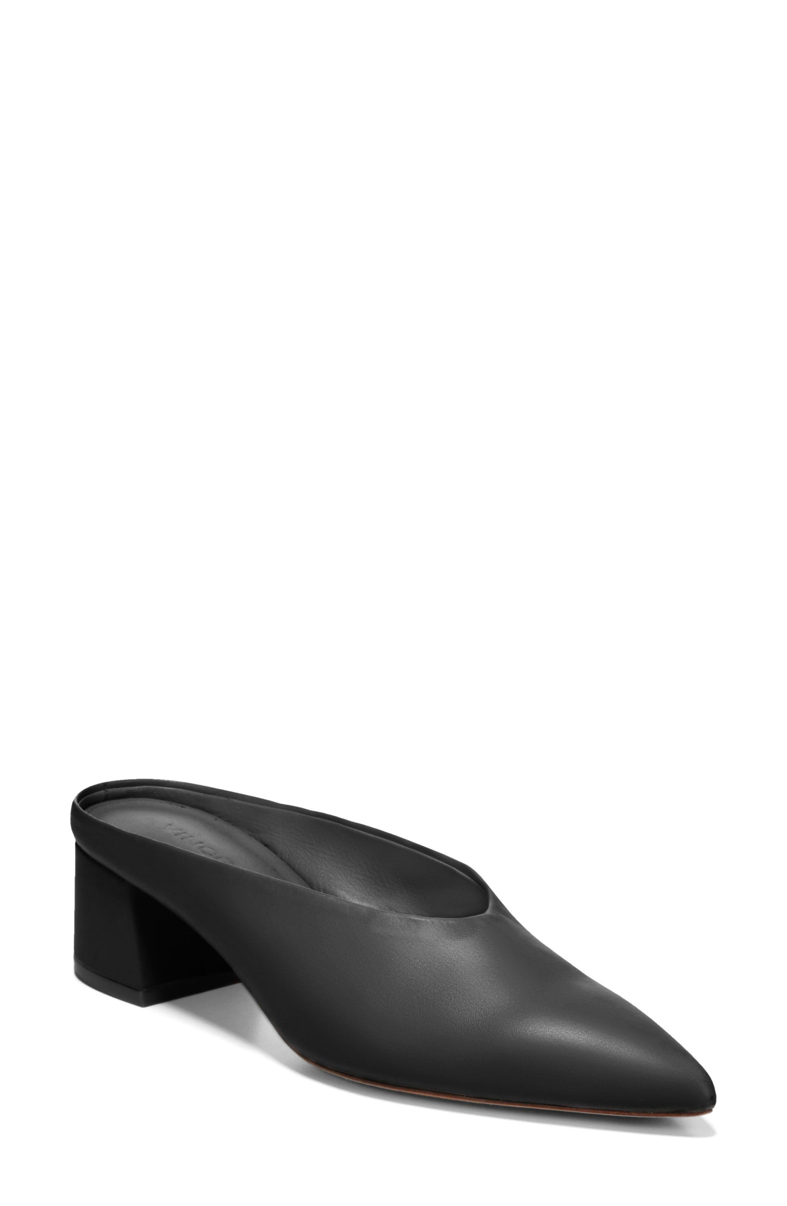 Ralston Pointy Toe Mule,                             Main thumbnail 1, color,                             BLACK