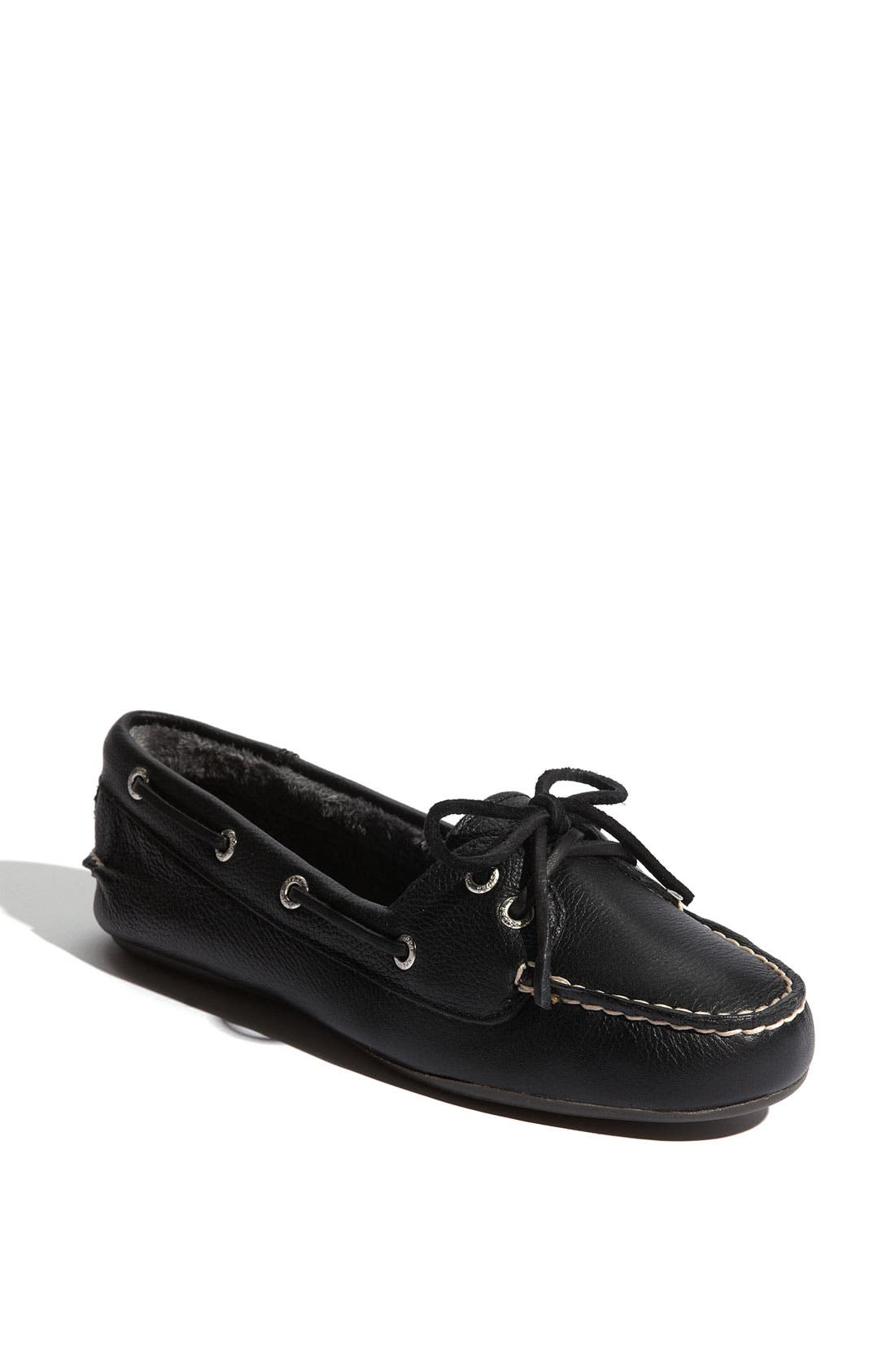 Top-Sider<sup>®</sup> 'Skiff' Moccasin Slip-On,                             Main thumbnail 1, color,                             001