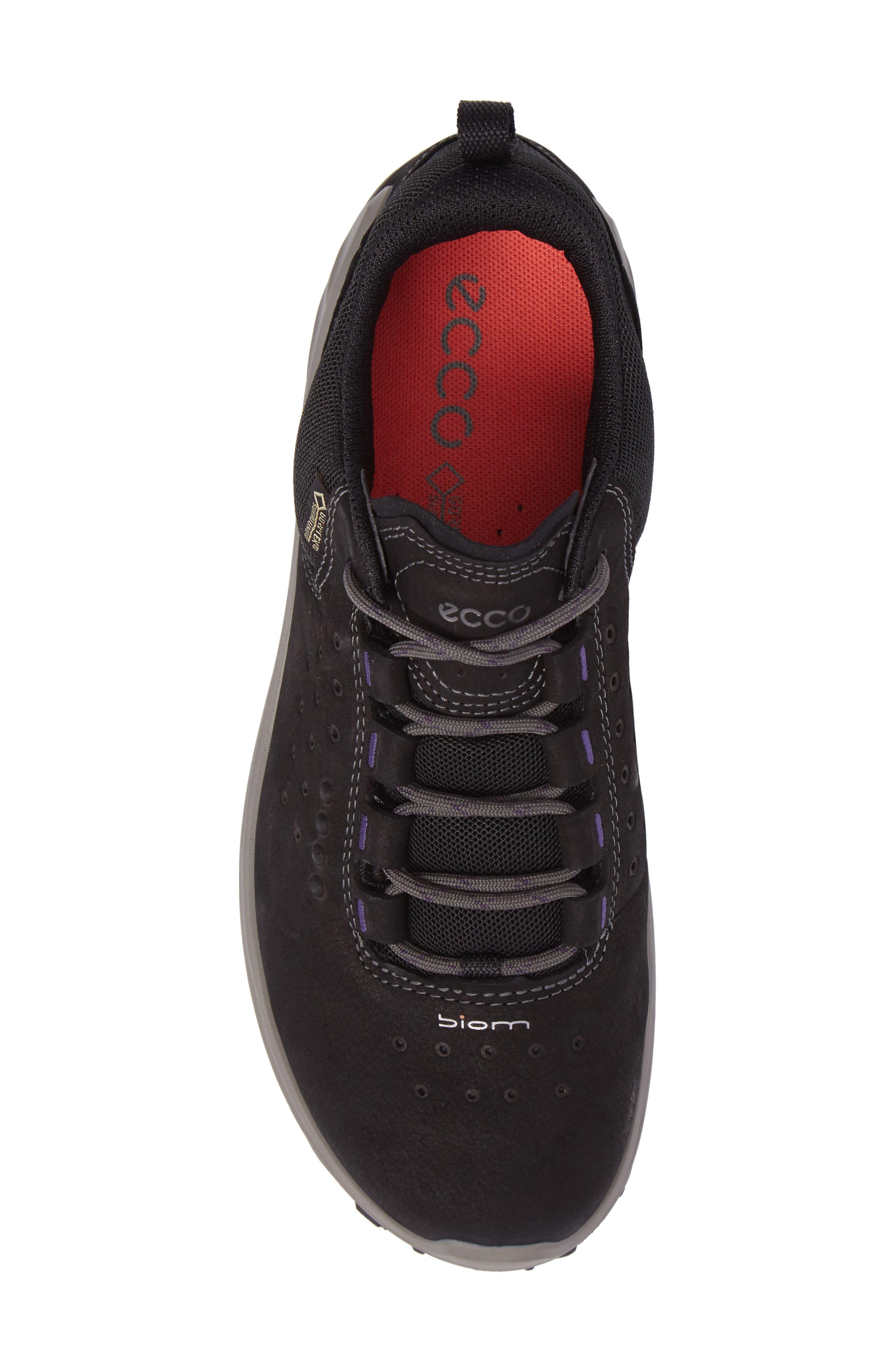 BIOM Venture GTX Sneaker,                             Alternate thumbnail 5, color,                             BLACK LEATHER