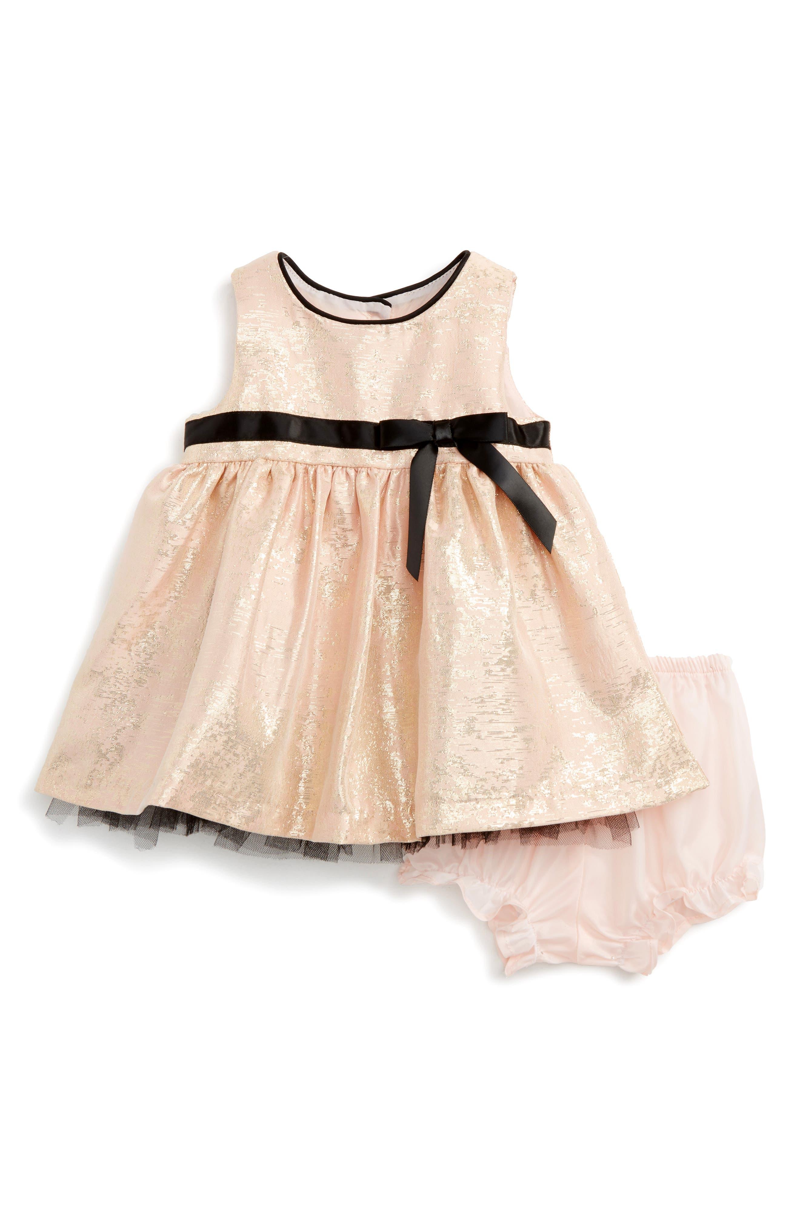 Shimmer Fit & Flare Dress,                             Alternate thumbnail 2, color,                             680