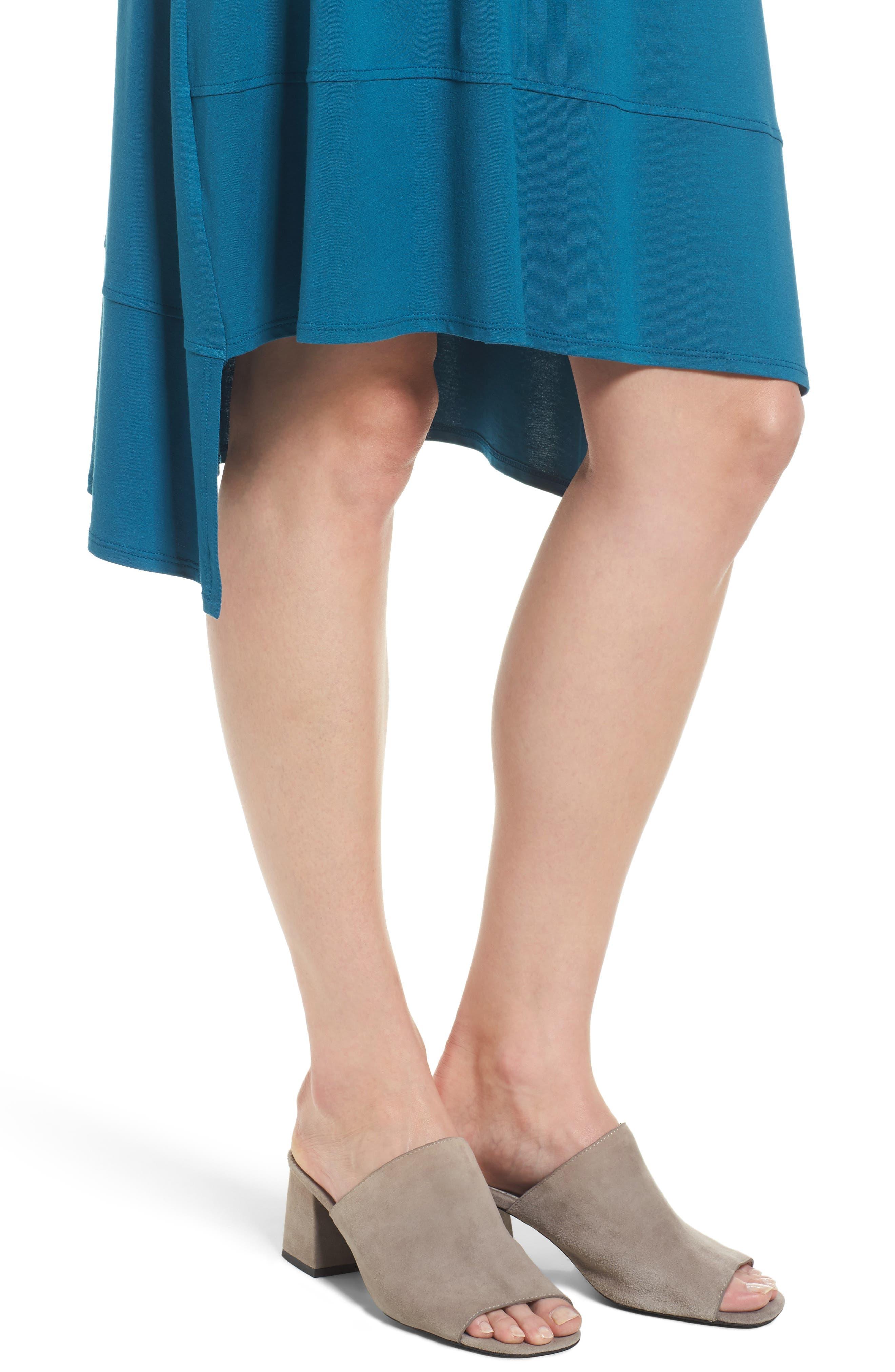 Jersey Asymmetrical A-Line Dress,                             Alternate thumbnail 18, color,