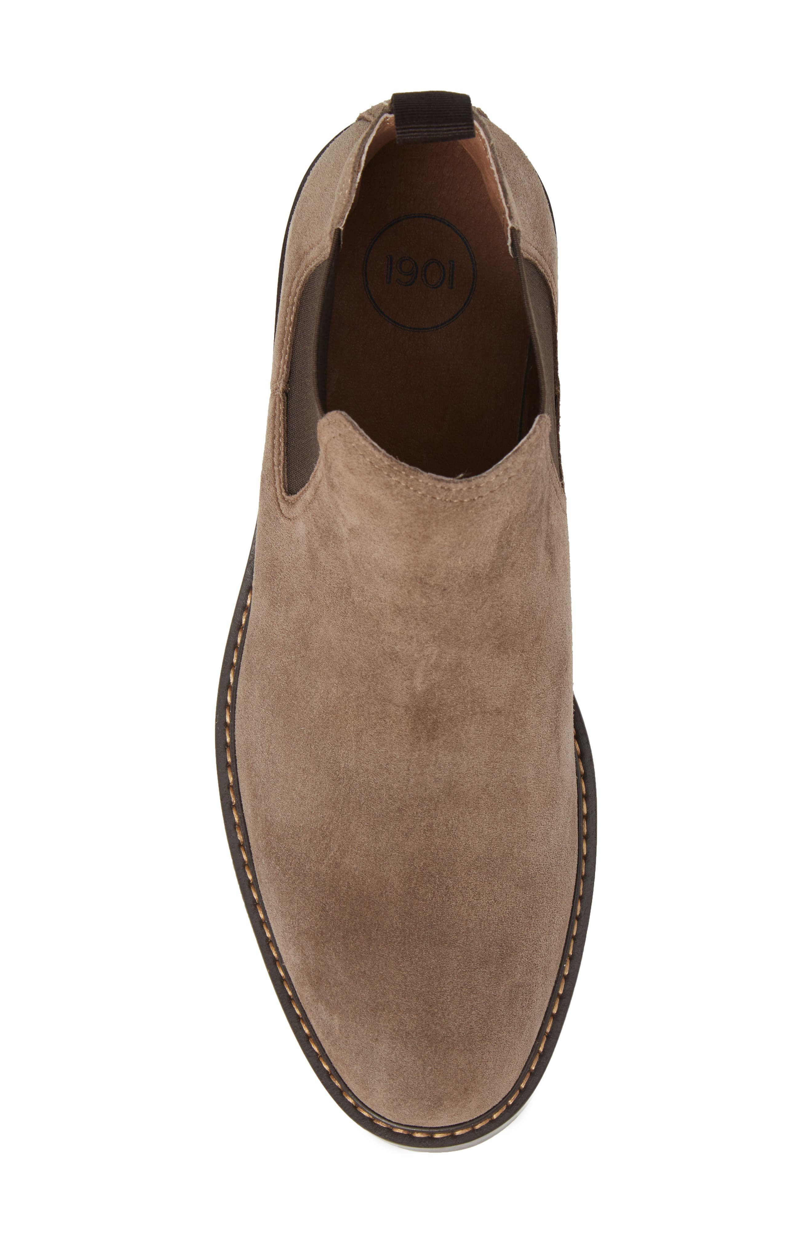 Brooks Chelsea Boot,                             Alternate thumbnail 5, color,                             TAUPE SUEDE