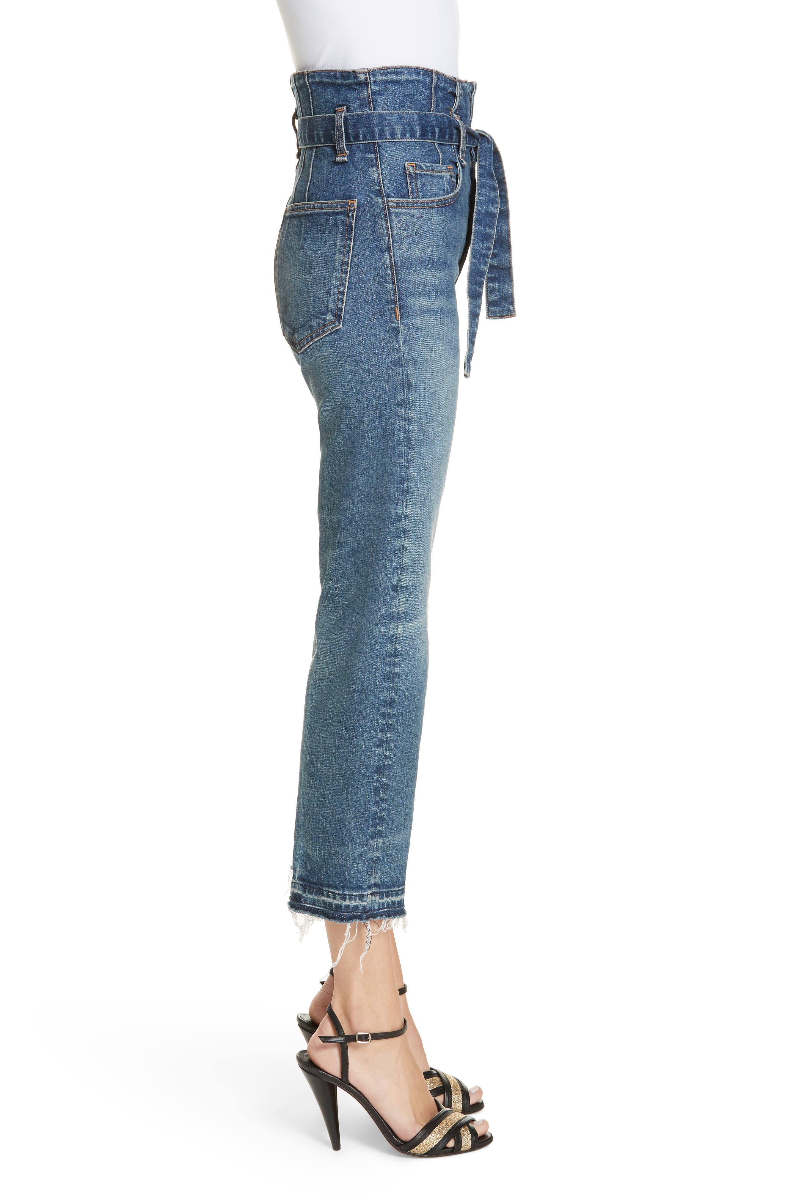 Marlene Corset Waist Straight Leg Jeans,                             Alternate thumbnail 3, color,                             TERRAIN