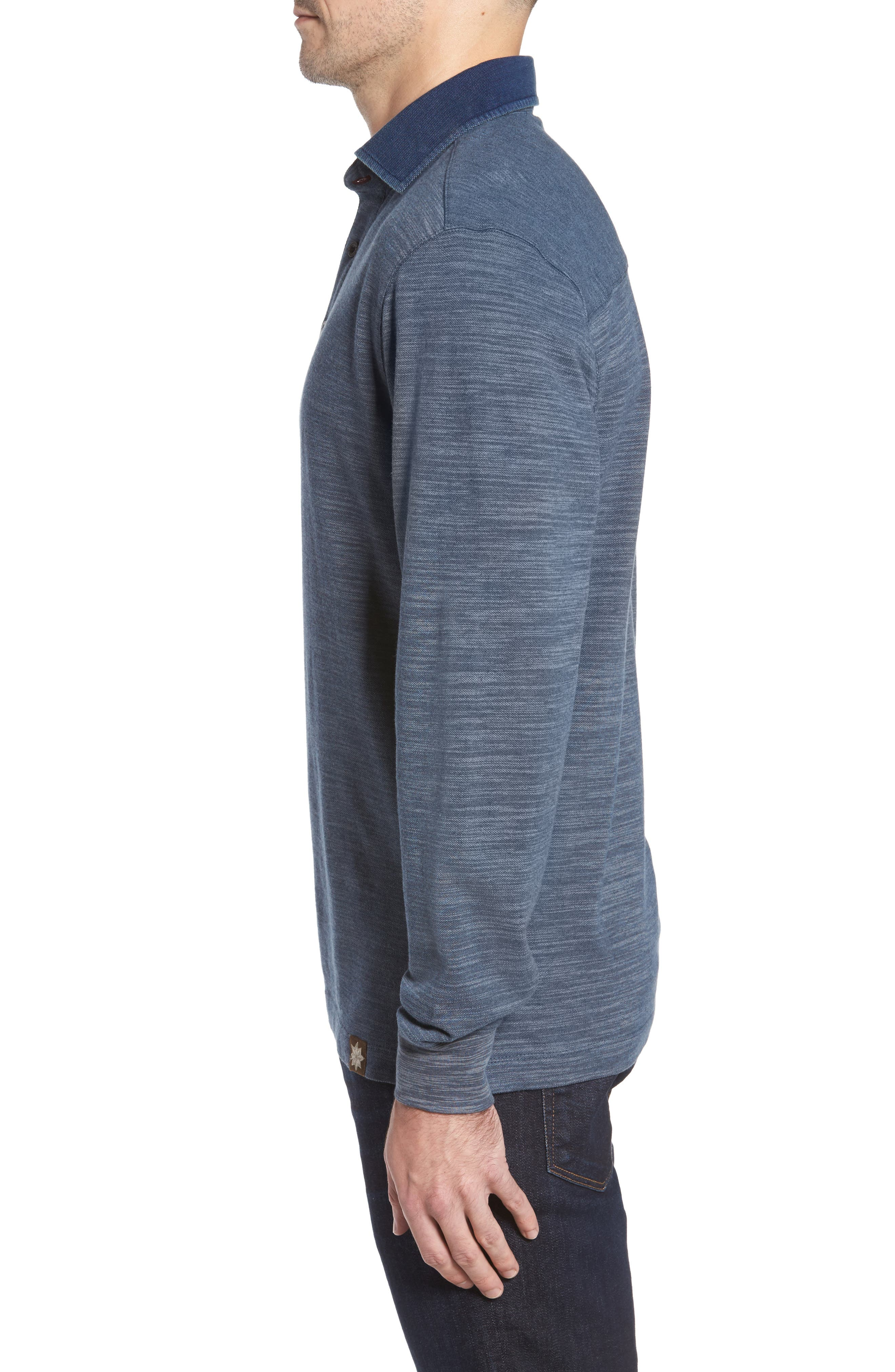 Patton Space Dyed Long Sleeve Polo,                             Alternate thumbnail 8, color,