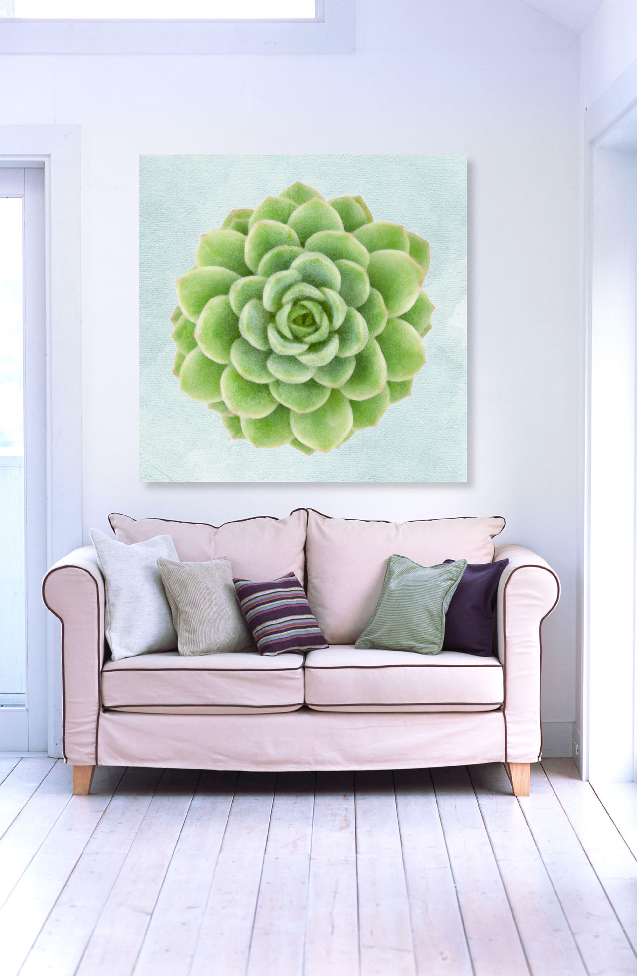 Succulent Dream I Canvas Wall Art,                             Alternate thumbnail 2, color,                             GREEN