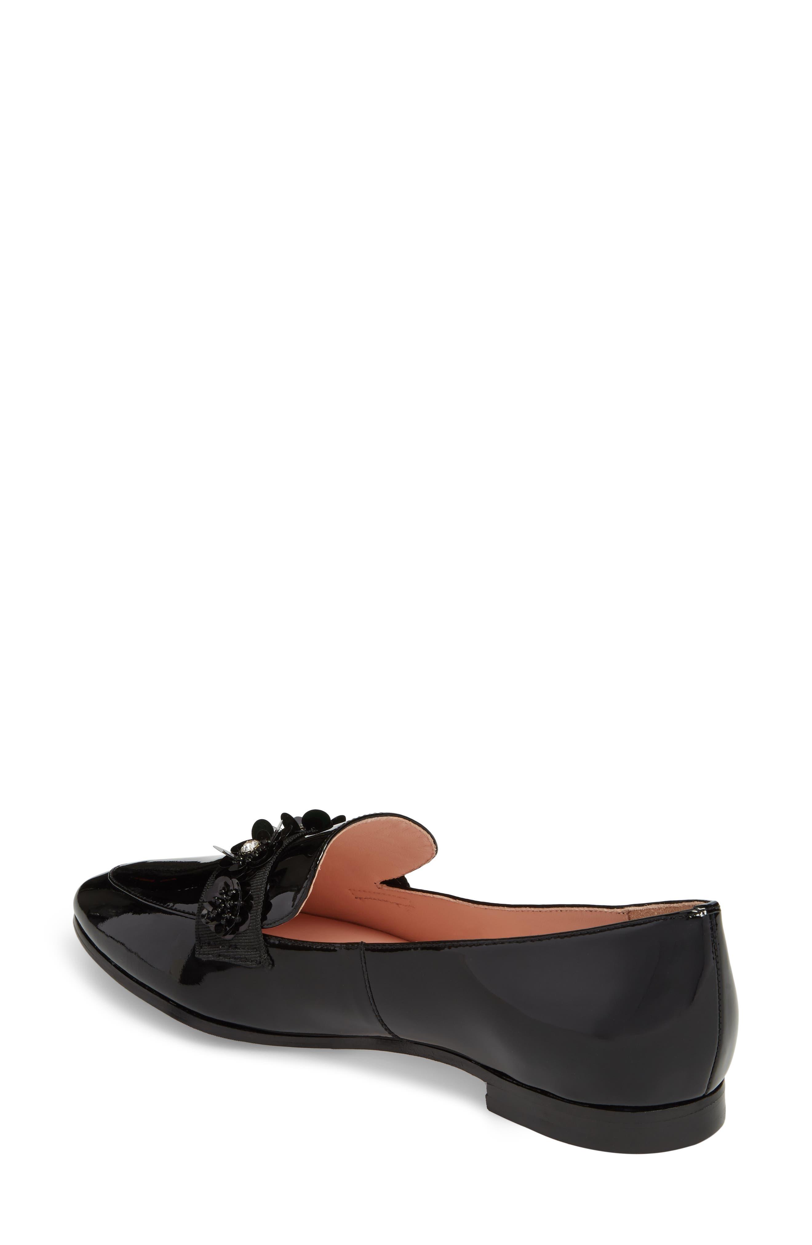 cleo embellished loafer,                             Alternate thumbnail 2, color,                             001