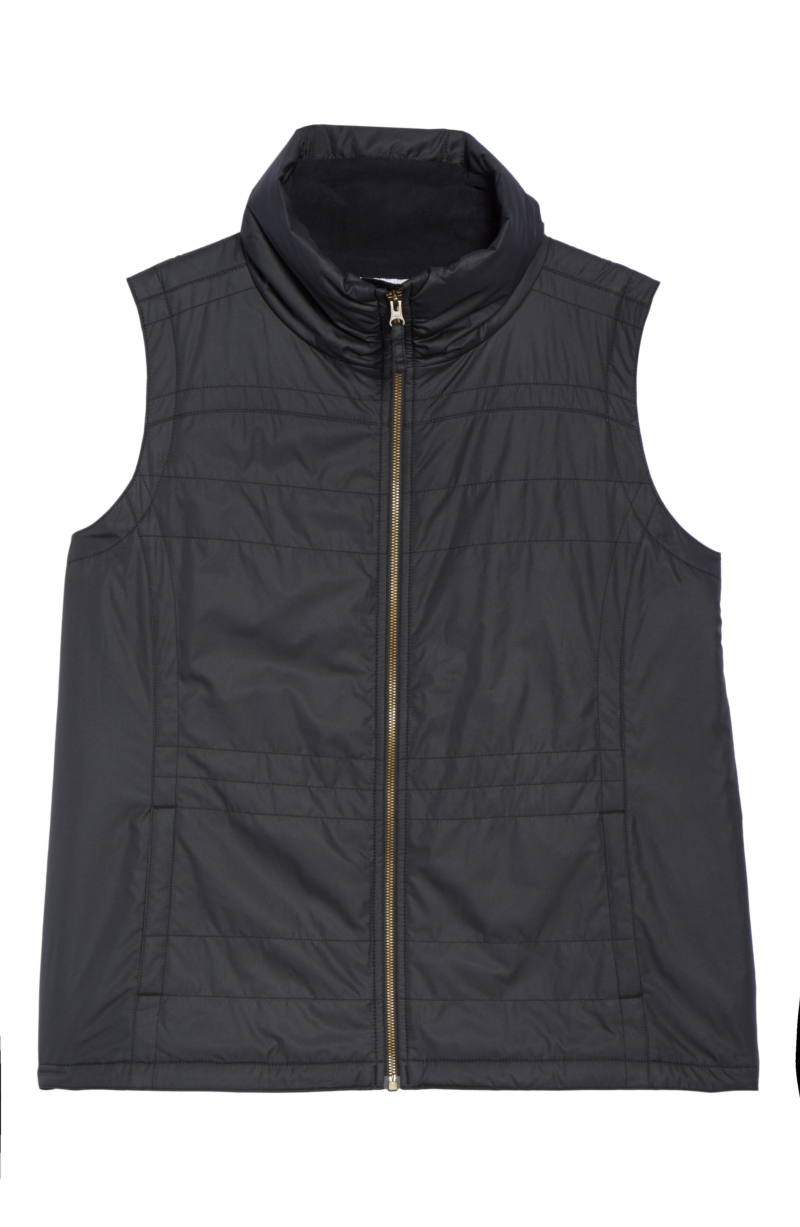 Shining Light II Quilted Vest,                             Alternate thumbnail 5, color,                             010