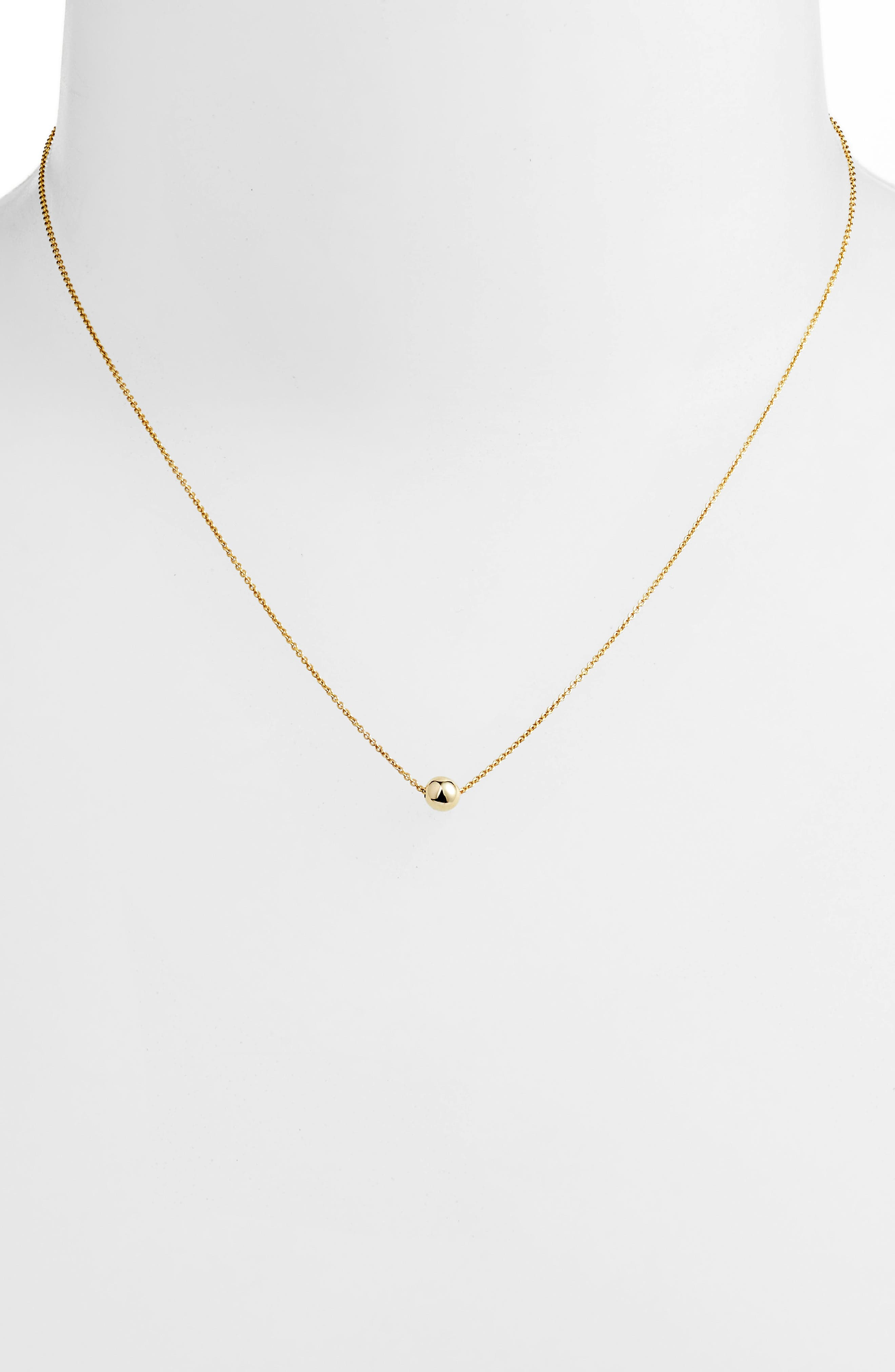 Ball Pendant Necklace,                             Alternate thumbnail 2, color,                             YELLOW GOLD