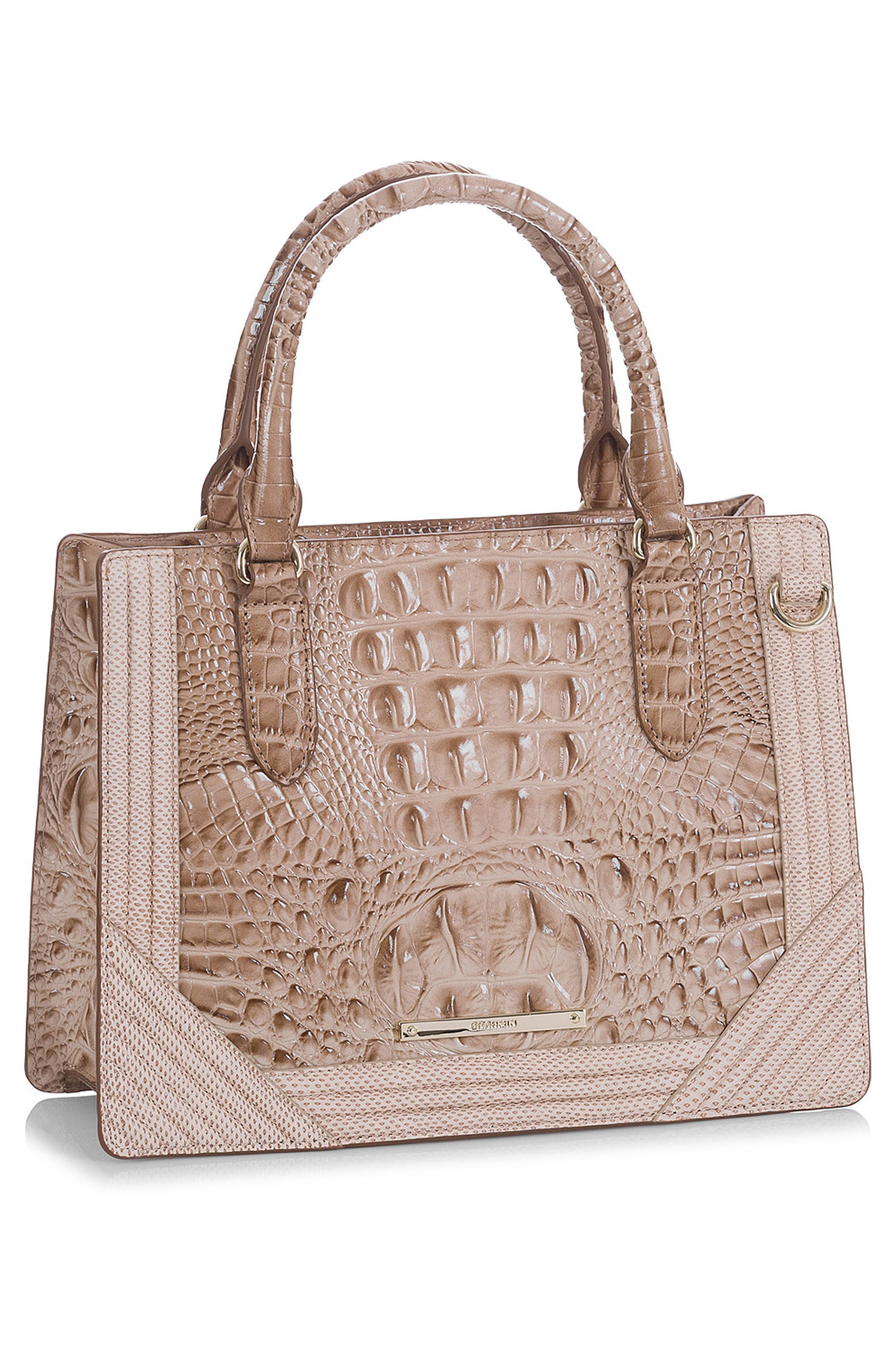 Small Camille Leather Satchel,                             Alternate thumbnail 5, color,                             294